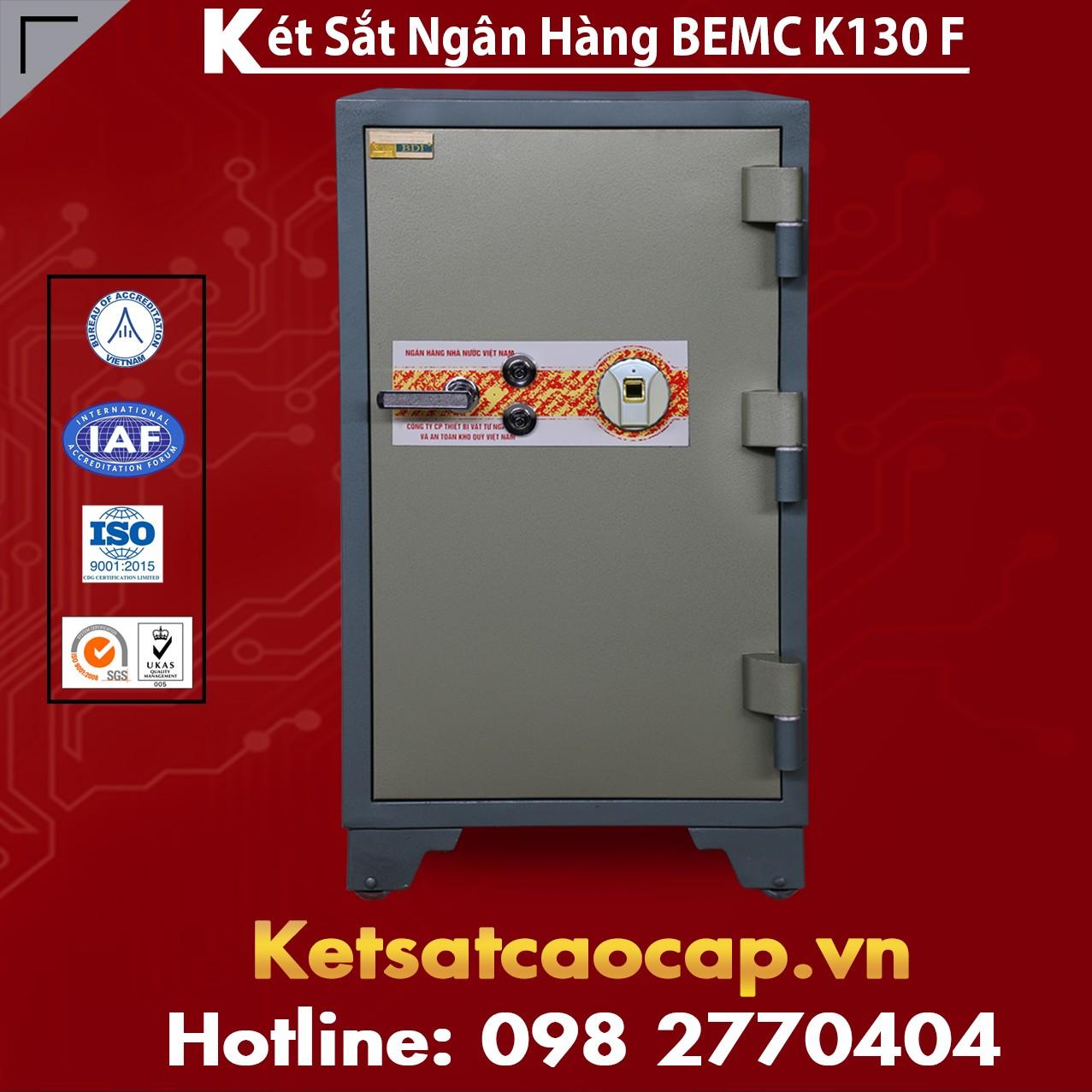 Két Sắt Vân Tay Bank Safes BEMC K130 F Sử Dụng vân tay Và Khóa Chìa