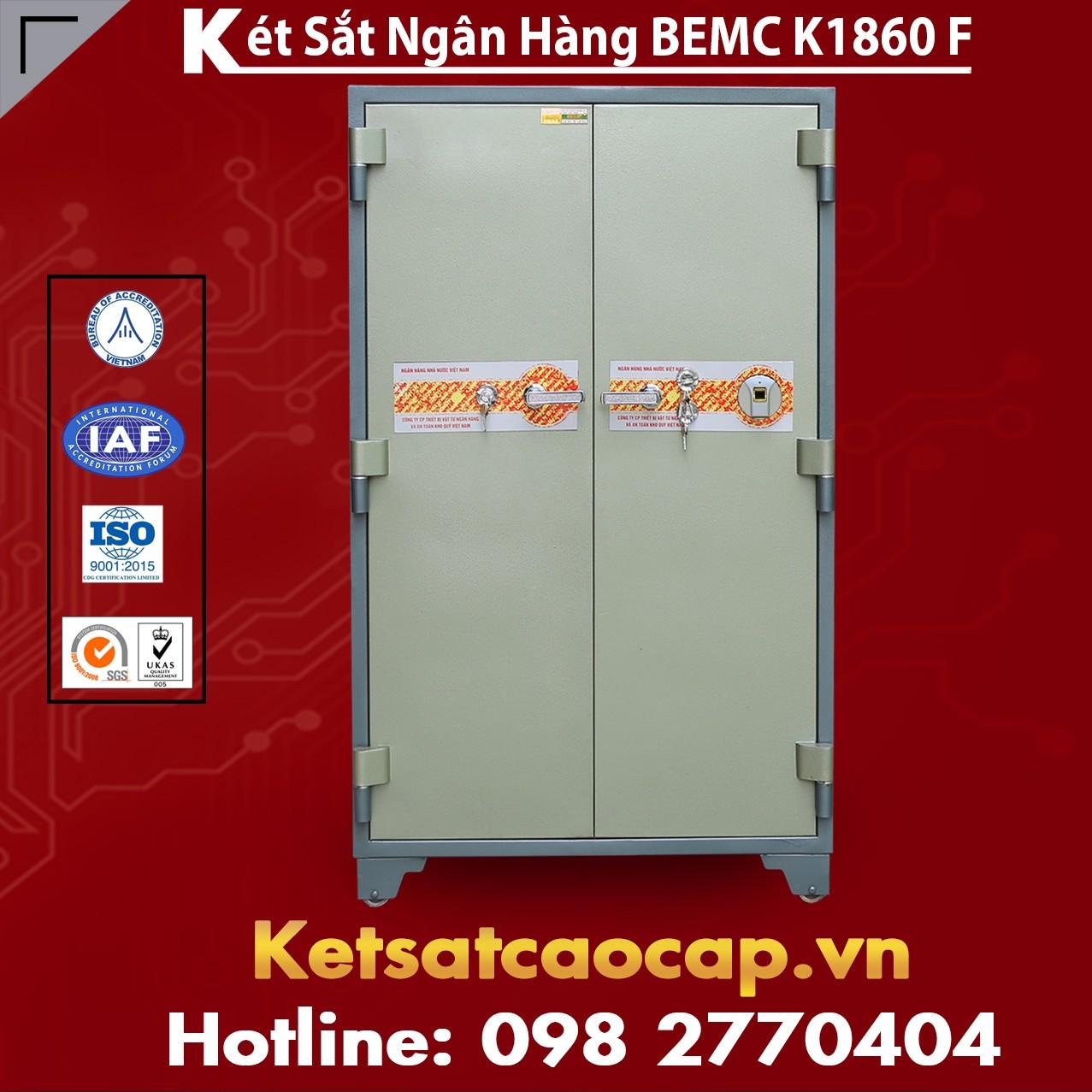 Két Sắt Vân Tay Bank Safes 2 Cửa BEMC K1860F Két Sắt Bán Chạy Nhất VN