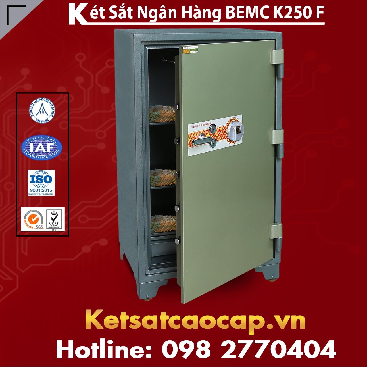 Két Sắt Vân Tay Bank Safes BEMC K250 F Két Sắt Khóa Cơ Đổi Mã Theo Ý