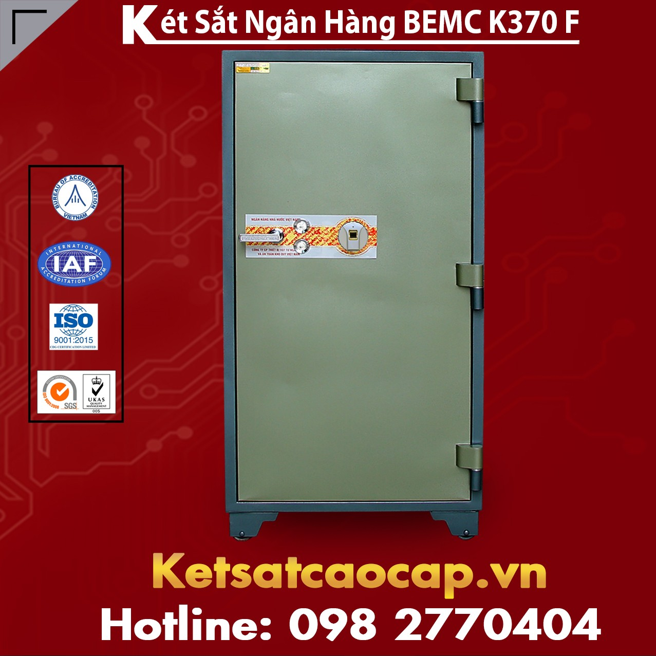 Két Sắt Vân Tay Bank Safes BEMC K370 F Két sắt Phổ Biến Nhất Việt Nam