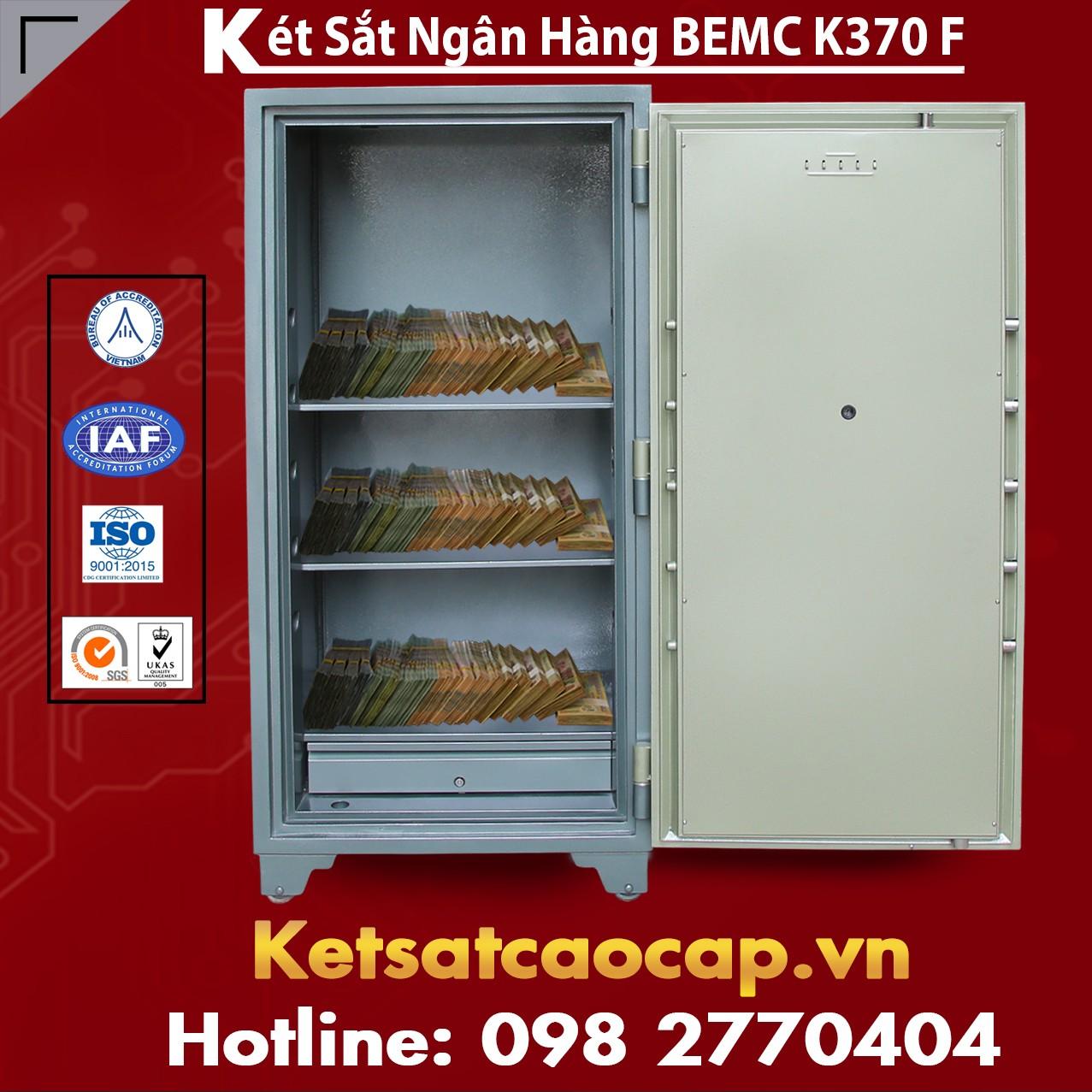 Két Sắt Vân Tay Bank Safe BEMC K370F Két sắt Chính Hãng Khuyến Mãi Lớn