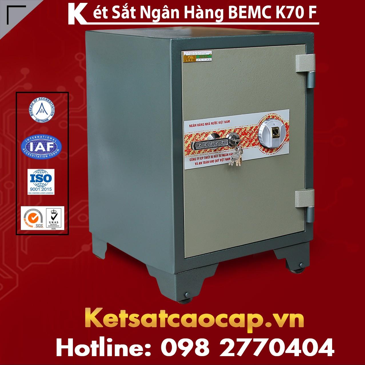 Két Sắt Vân Tay Bank Safe BEMC K70 F Tiện Dụng Bảo Vệ Tài Sản Tốt Nhất