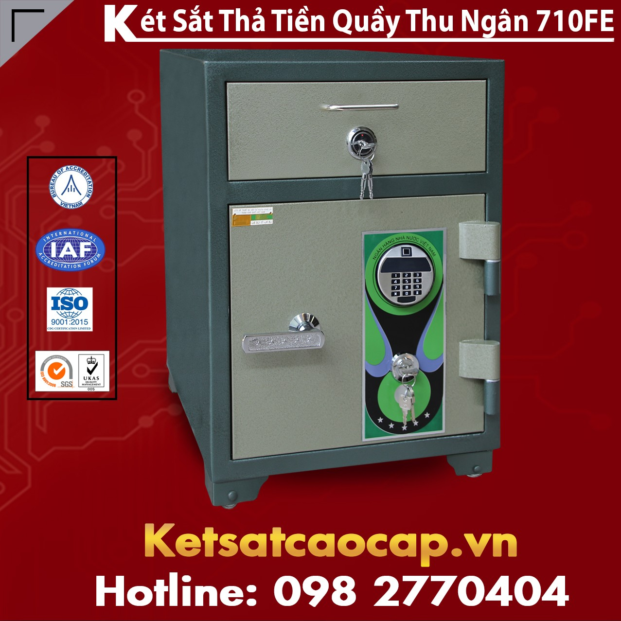 két sắt mini dấu vân tay Hà Nội