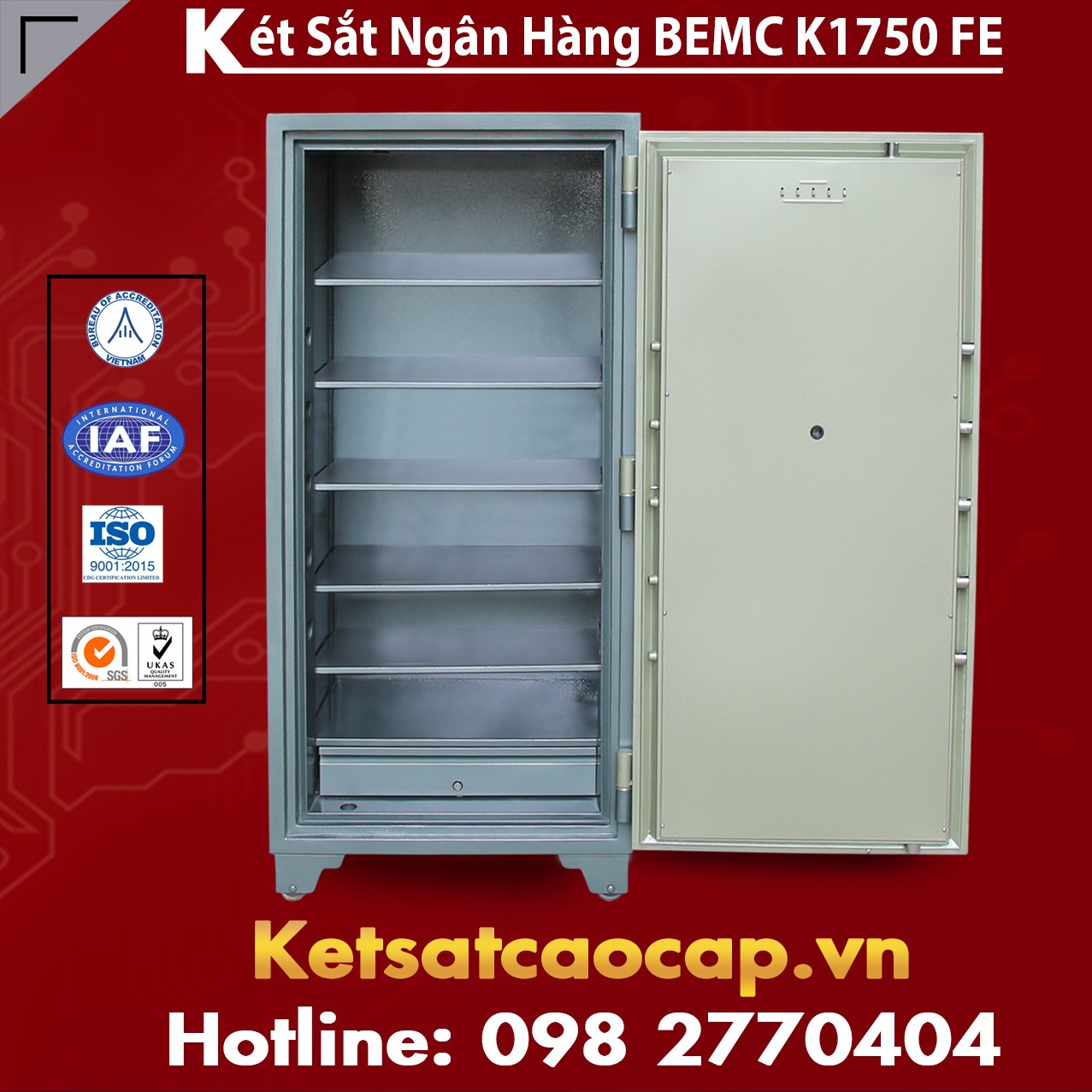 Két Sắt Vân Tay Điện Tử Hàn Quốc BEMC K1750 FE két sắt giá rẻ uy tín