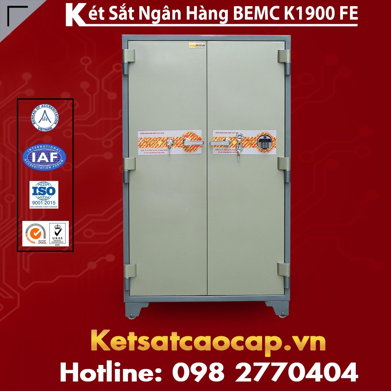 Két Sắt Vân Tay Điện Tử Hàn Quốc 2 Cửa BEMC K1900 FE xuất xứ rõ ràng