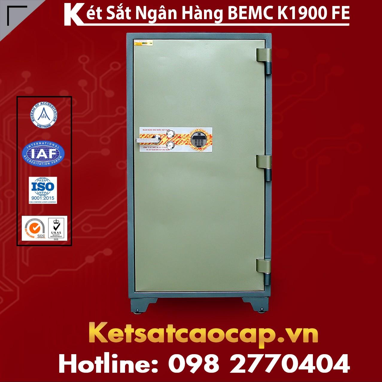 Két Sắt Vân Tay Điện Tử Hàn Quốc BEMC K1900FE hàng chuẩn