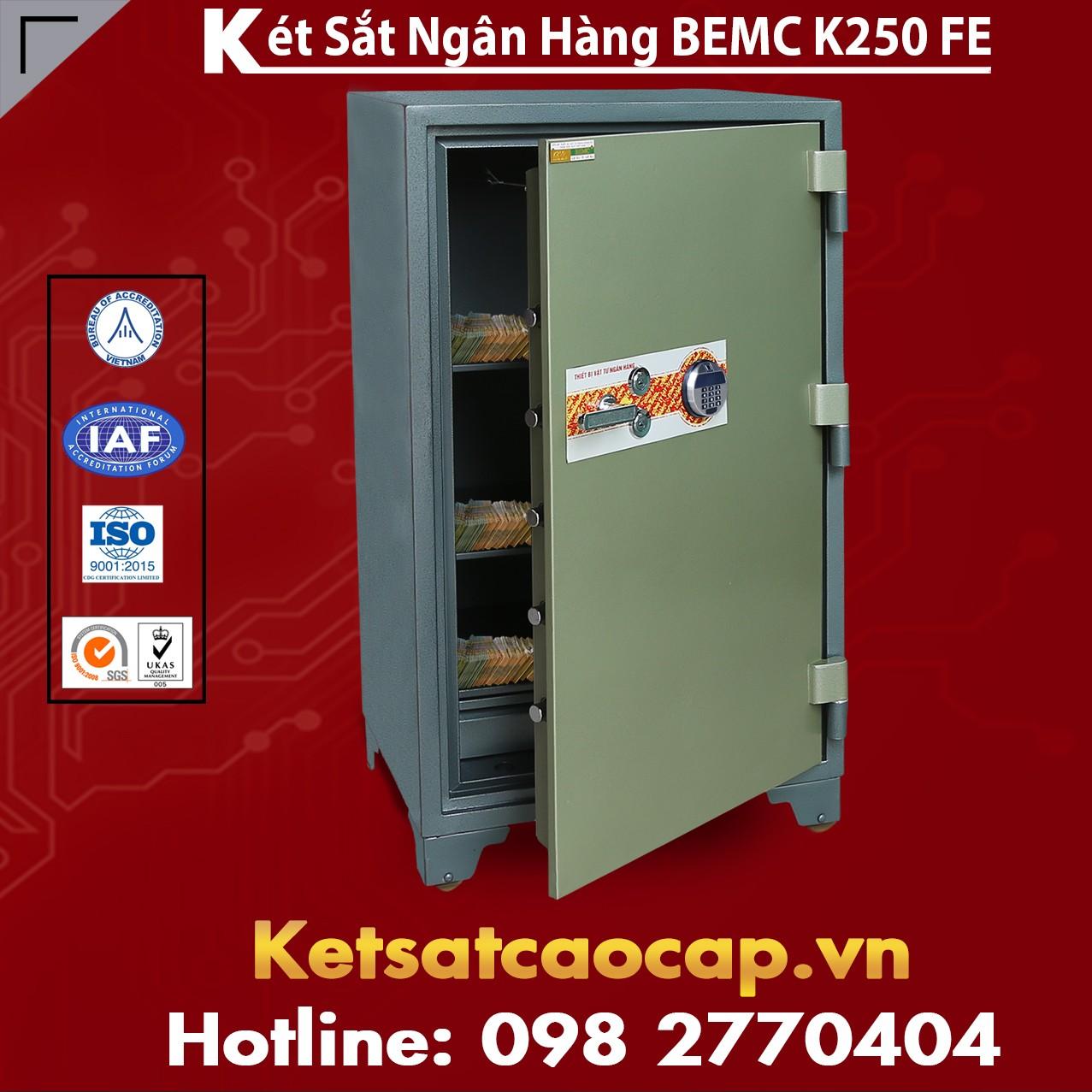 Két Sắt Vân Tay Điện Tử Hàn Quốc BEMC K250 FE Thiết kế sag trọng
