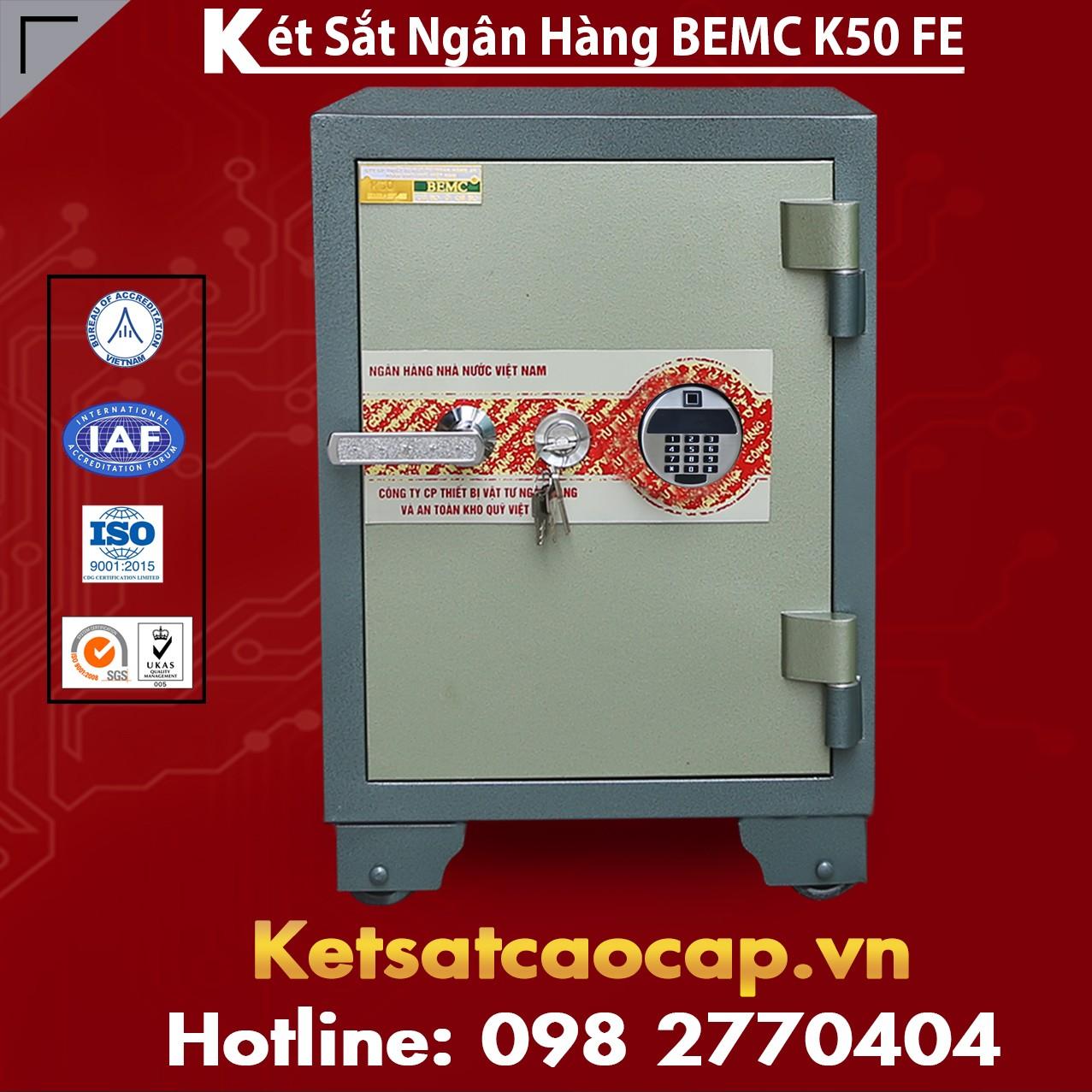 Két Sắt Vân Tay Điện Tử Hàn Quốc BEMC K50 FE Ưu Đãi Siêu Khủng