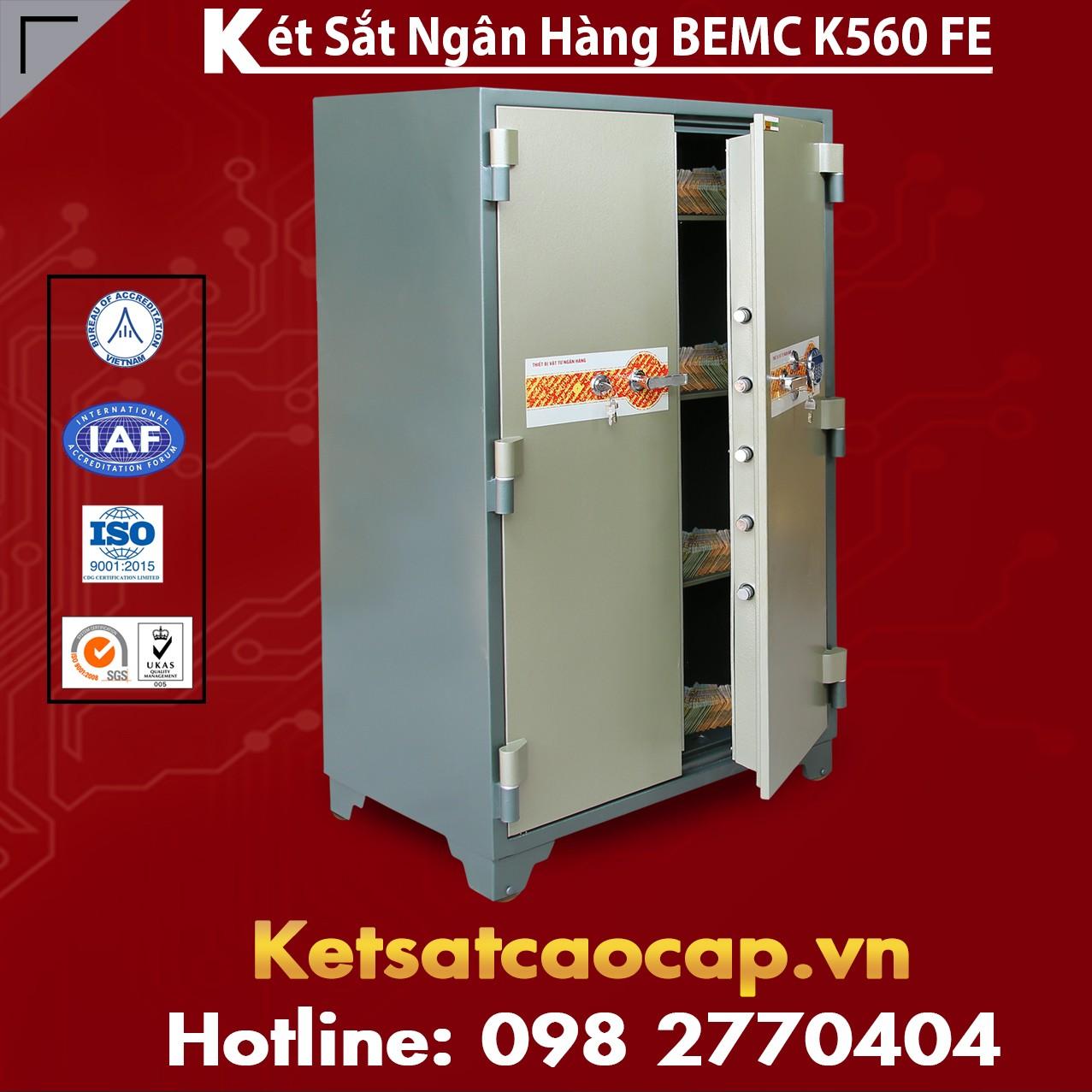 Két Sắt Vân Tay Điện Tử Hàn Quốc BEMC K560 FE Giá Két Sắt Mới Nhất