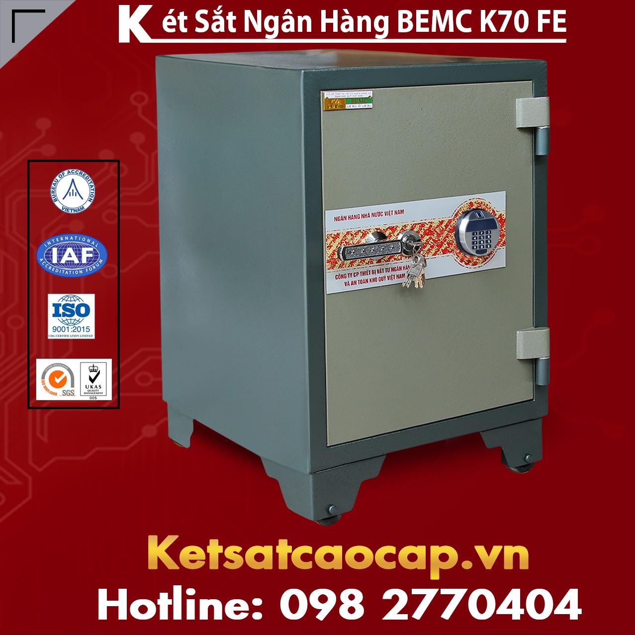 Két Sắt Vân Tay Điện Tử Hàn Quốc BEMC K70 FE Rẻ Nhất tại VN Hiện Nay