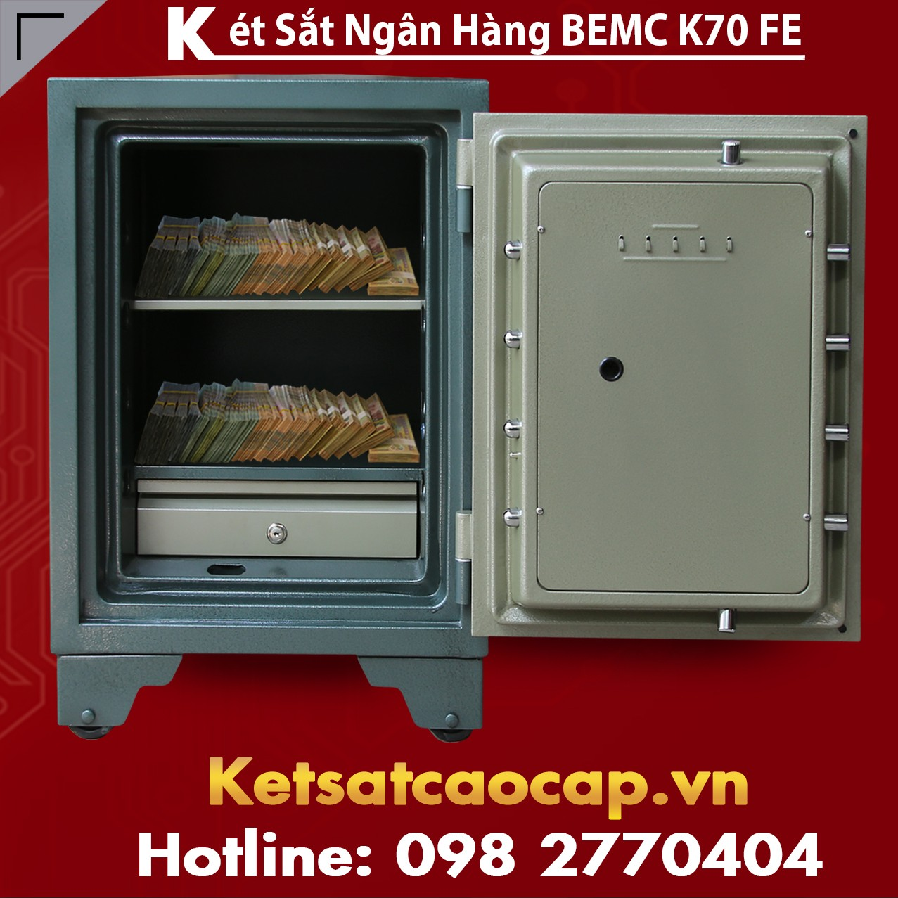 Két Sắt Vân Tay Điện Tử Hàn Quốc BEMC K70 FE Khuyến Mãi Sập Sàn VN