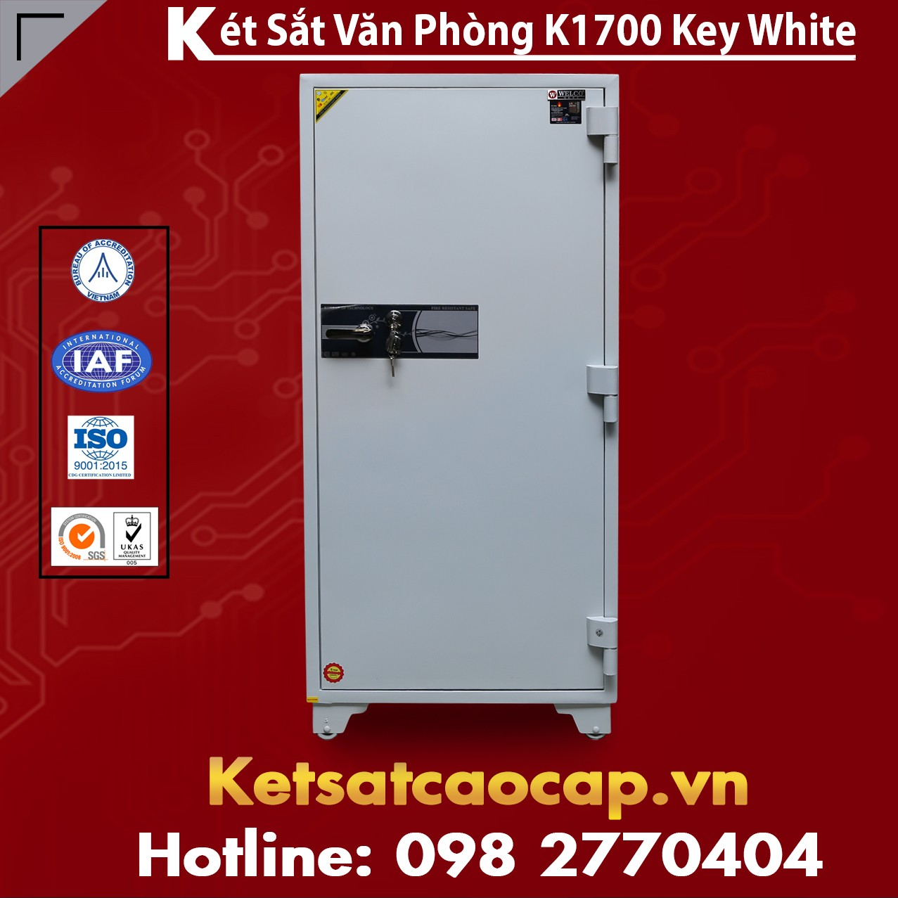 Két Sắt Văn Phòng K1700 KEY WHITE Cao Cấp Giá Rẻ Nhất Ở Thị Trường