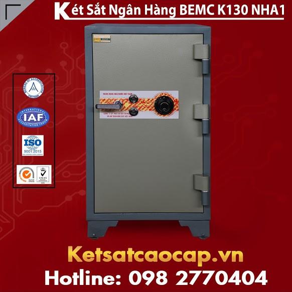 Két Sắt Ngân Hàng BEMC K130 NHA1 Sử Dụng Mã Số Và Khóa Chìa Xịn