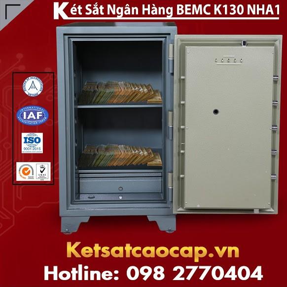Két Sắt Ngân Hàng BEMC K130 NHA1 Thiết Kế Khóa Mã Phù Hợp Bảo Vệ TS