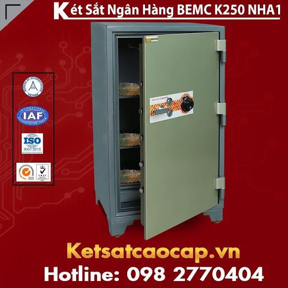Két Sắt Ngân Hàng BEMC K250 NHA1 Két Sắt Khóa Cơ Điện Tử Đổi Mã Theo Ý