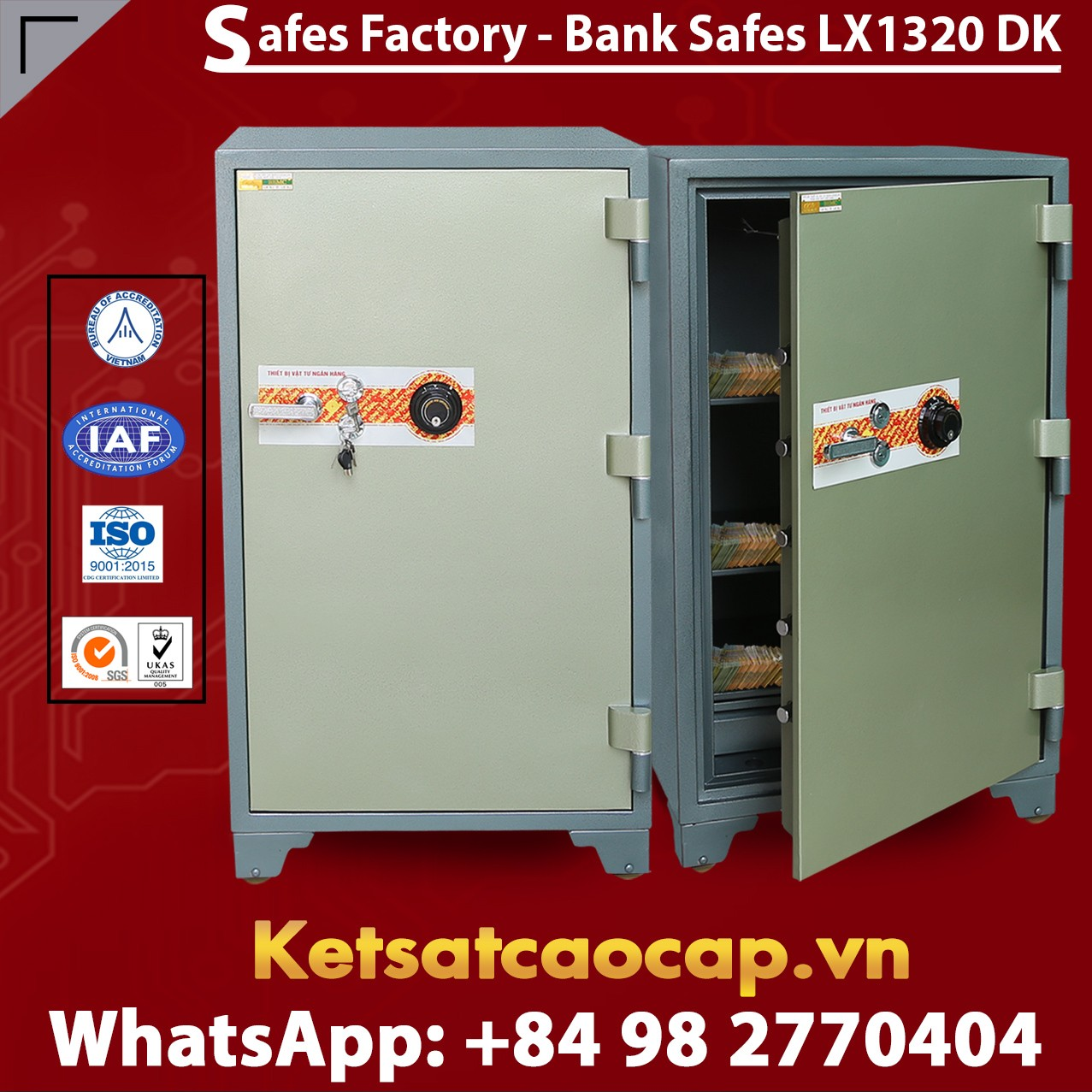 Bank Safes LX1320 DK No.1 Bank Safes Maker Mordern Design From WELKO