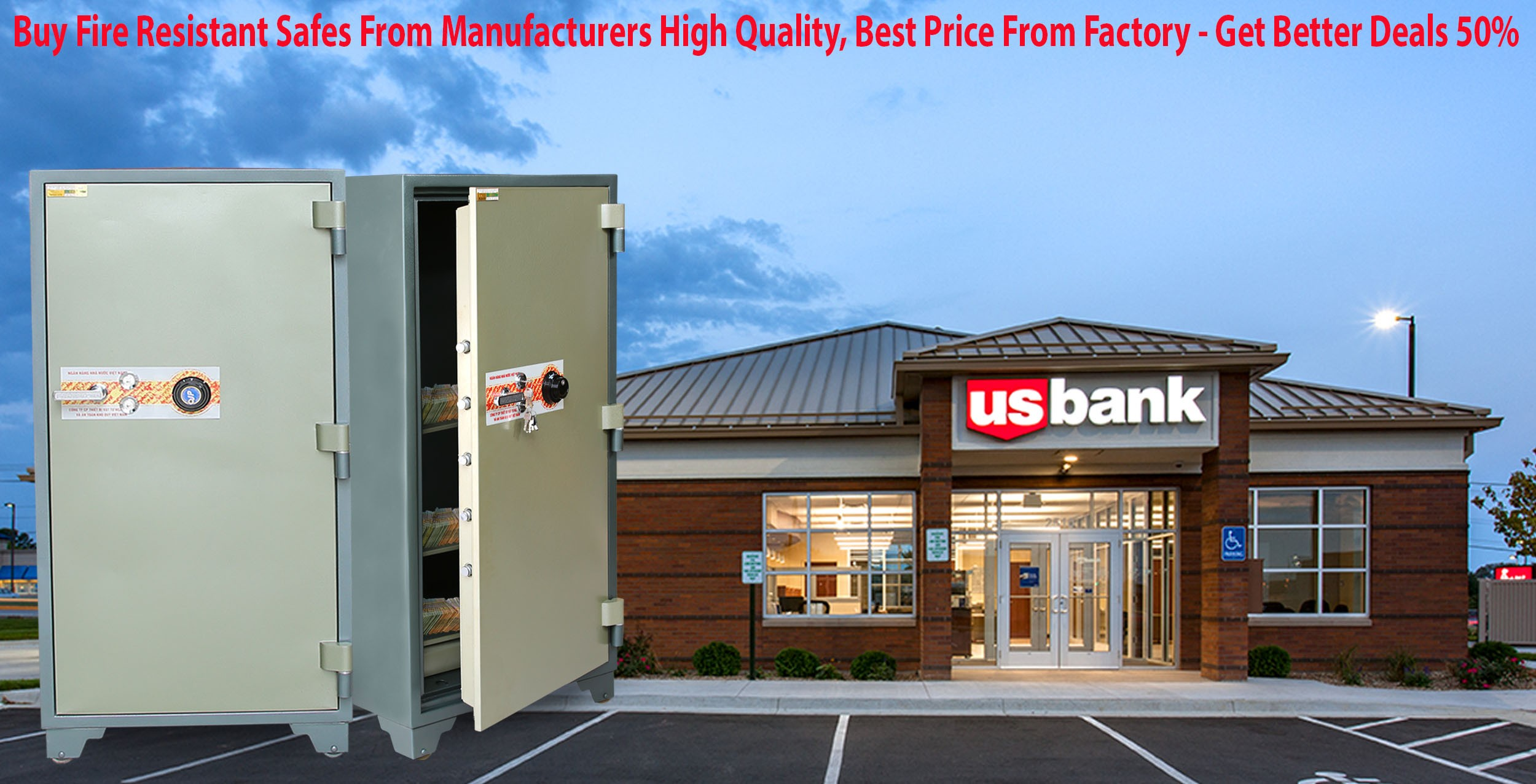 Bank Safes Factory Direct & Fast Shipping