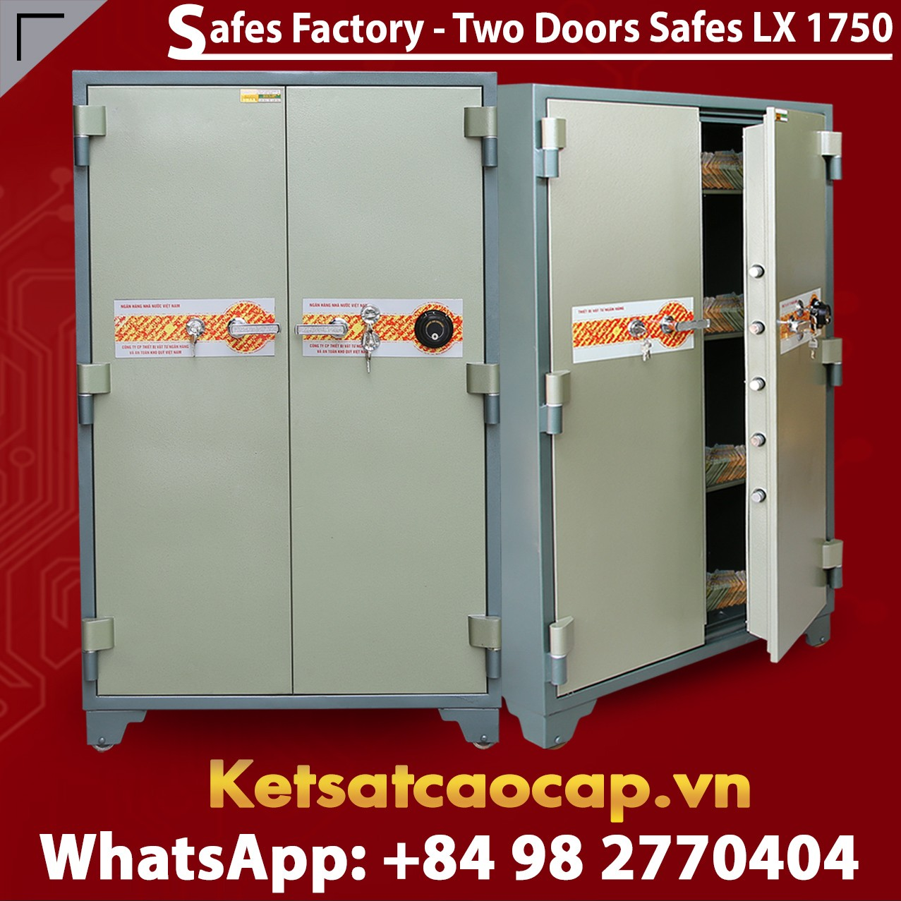 Bank Safe LX1750 DK Two Doors Mordern Design Security