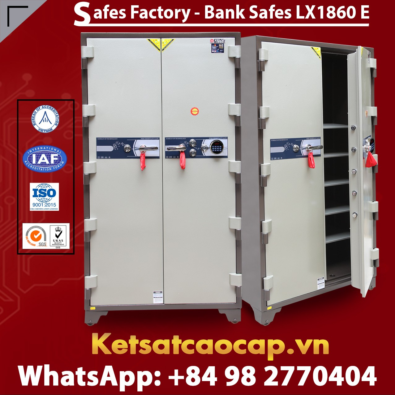 Bank Safes LX 1860 E Two Door Newest Luxury Design Customized Models