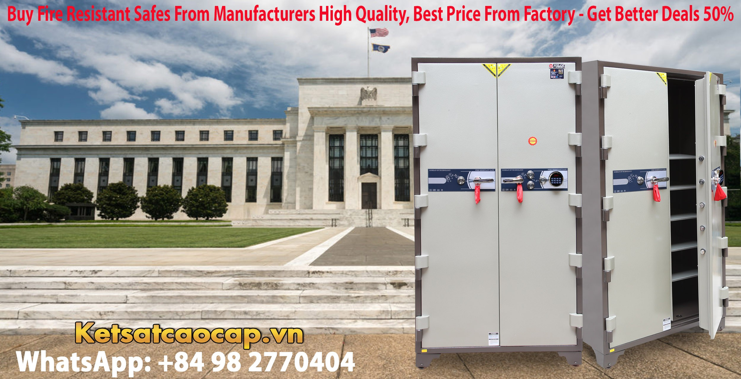 hình ảnh sản phẩm Bank Safes LX 1860 E Two Door Newest Luxury Design Customized Models