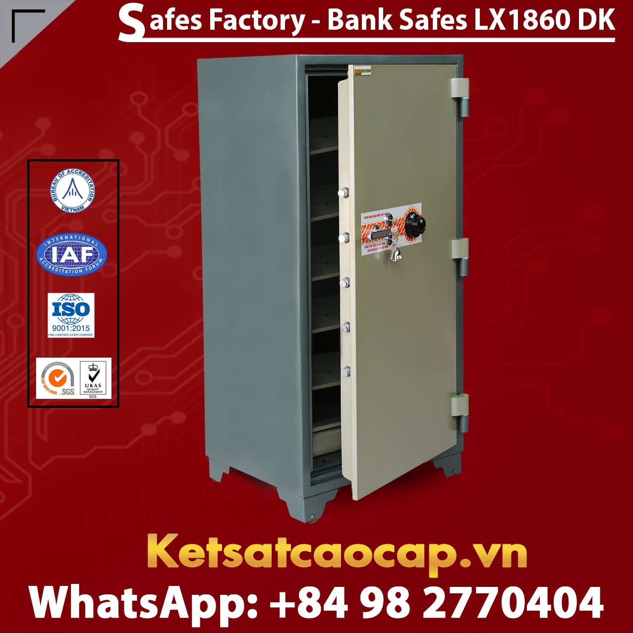 Bank Safes LX1860 DK Top High Security Bank Safes Box - Factory Price