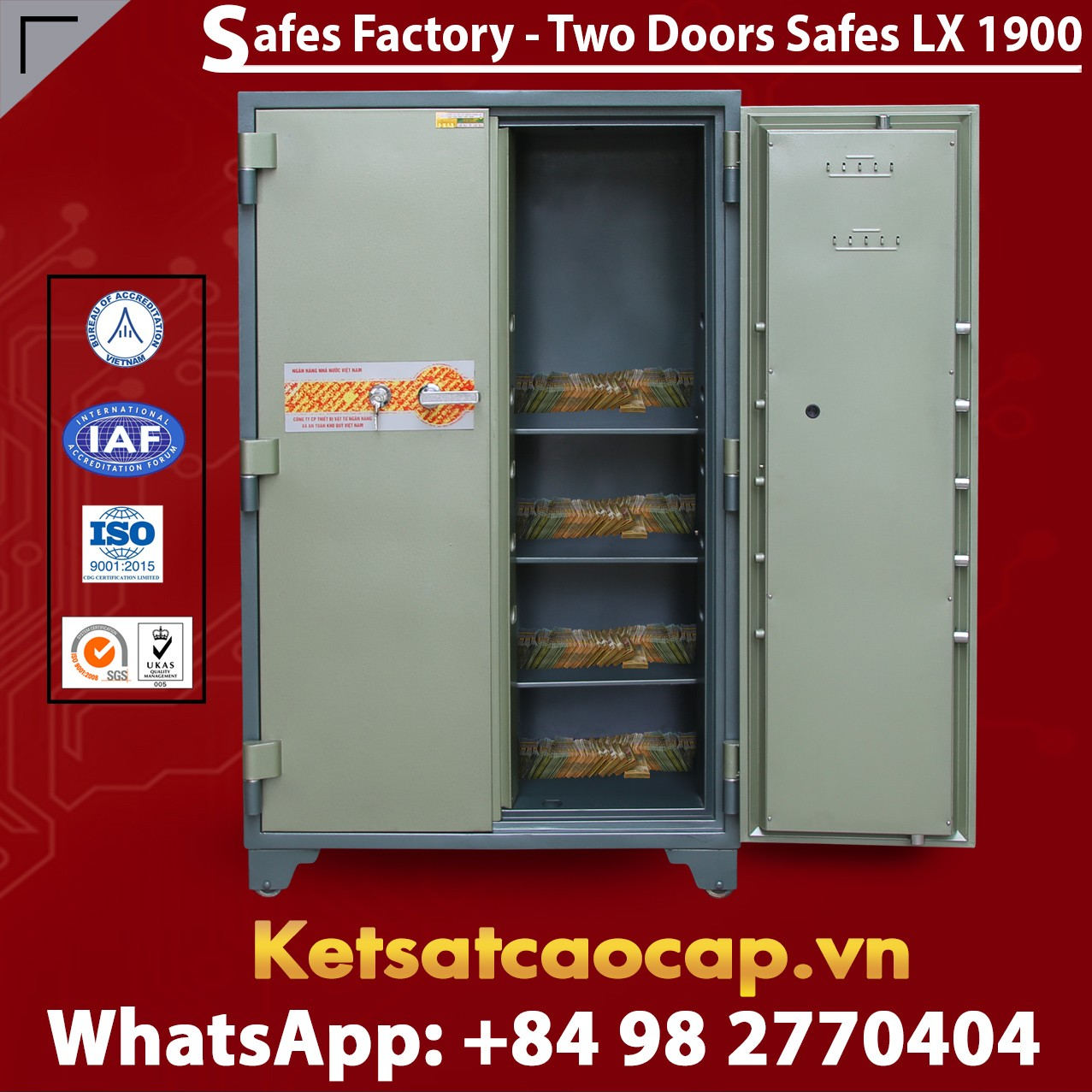 Bank Safes LX1900 DK Two Doors New Version Luxury