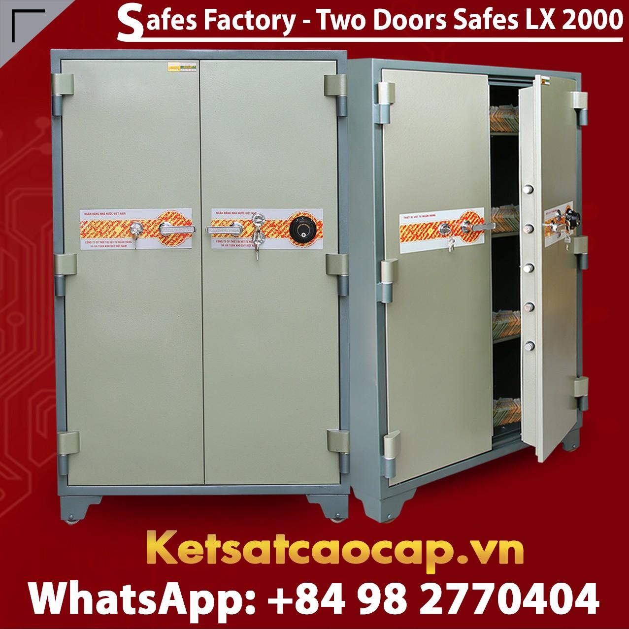 Bank Safes LX2000 DK Two Doors Mechanical Fireproof