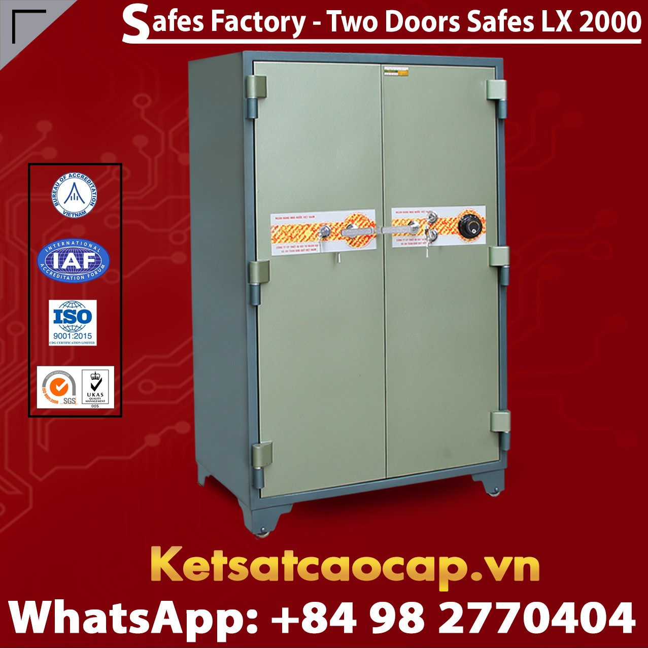 Bank Safes LX2000 DK Two Doors Mechanical Fireproof