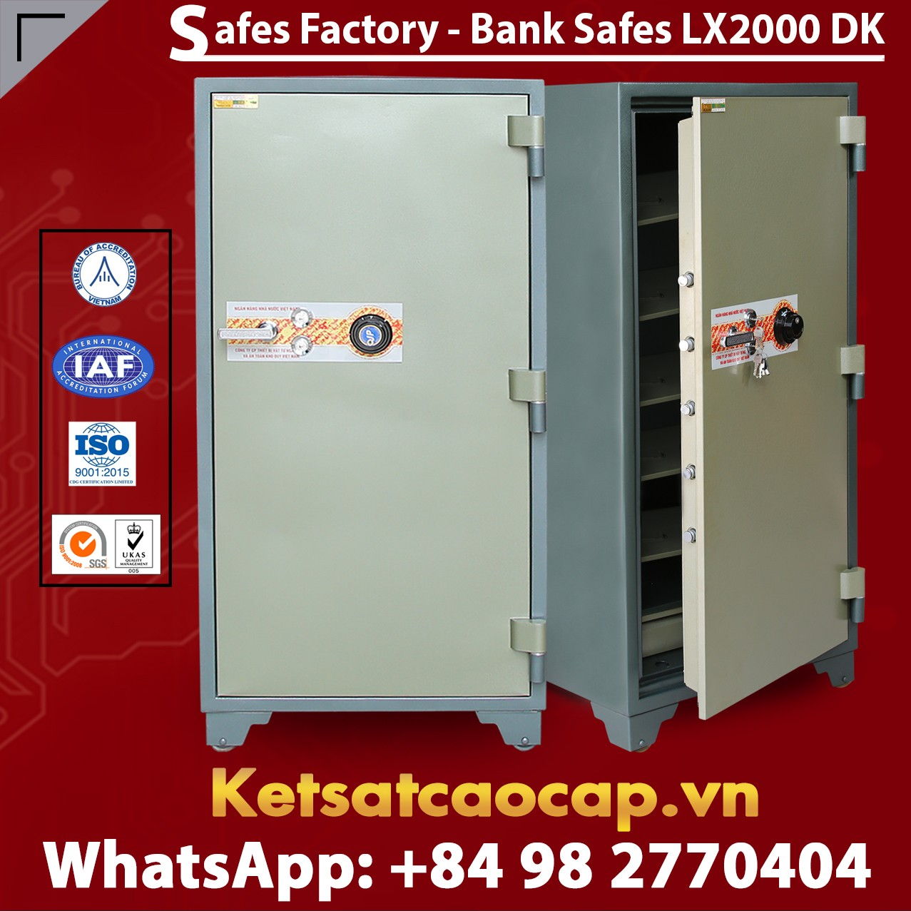 Bank Safes LX2000 DK Customized Design Mechanical Lock System Safe Box