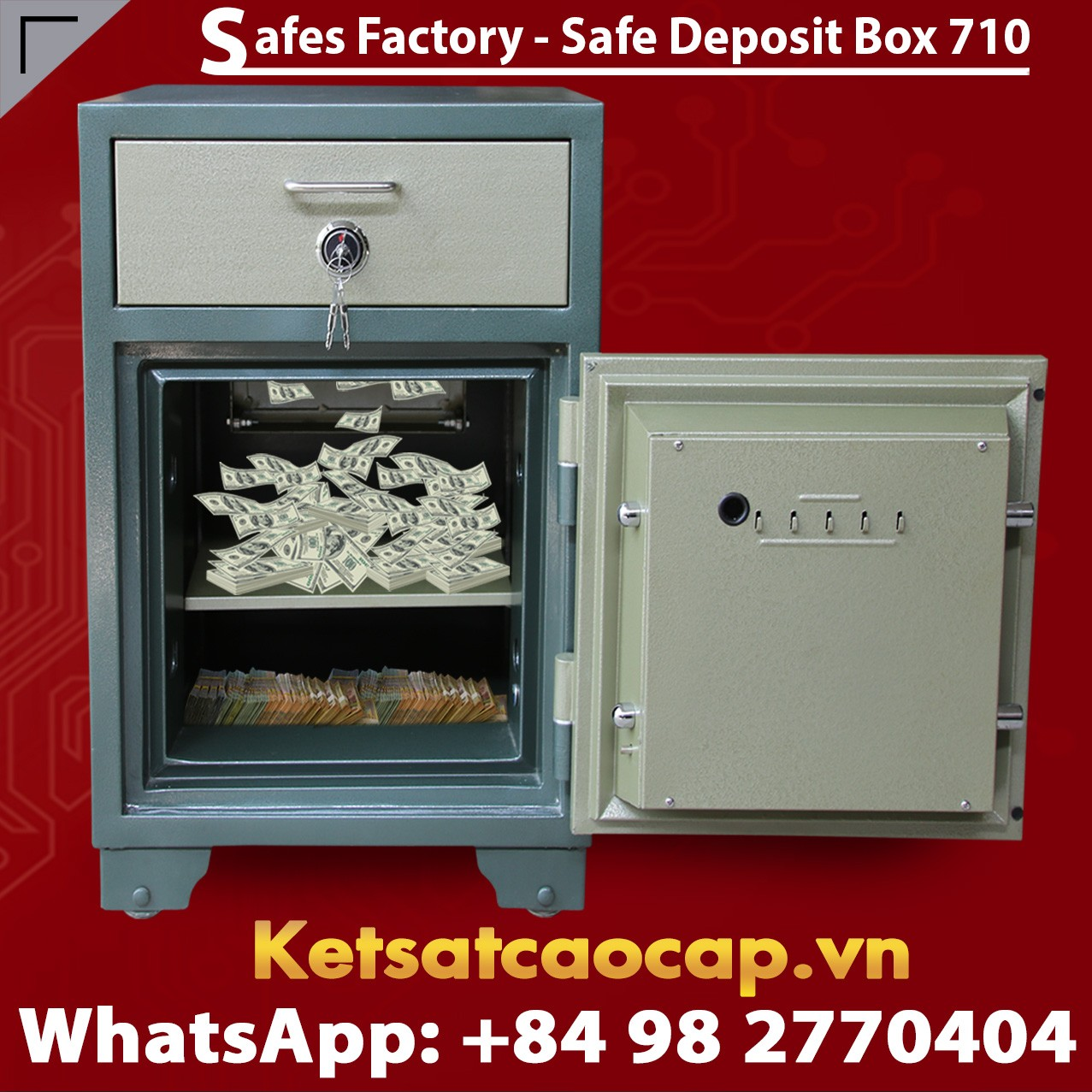 Bank Safe LX710 DK High-quality Cash Drop Box Mechanical Lock