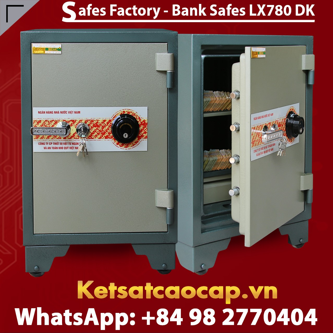 Bank Safes LX780 DK Factory Price Safe Boxes Top Leading Manufacturer