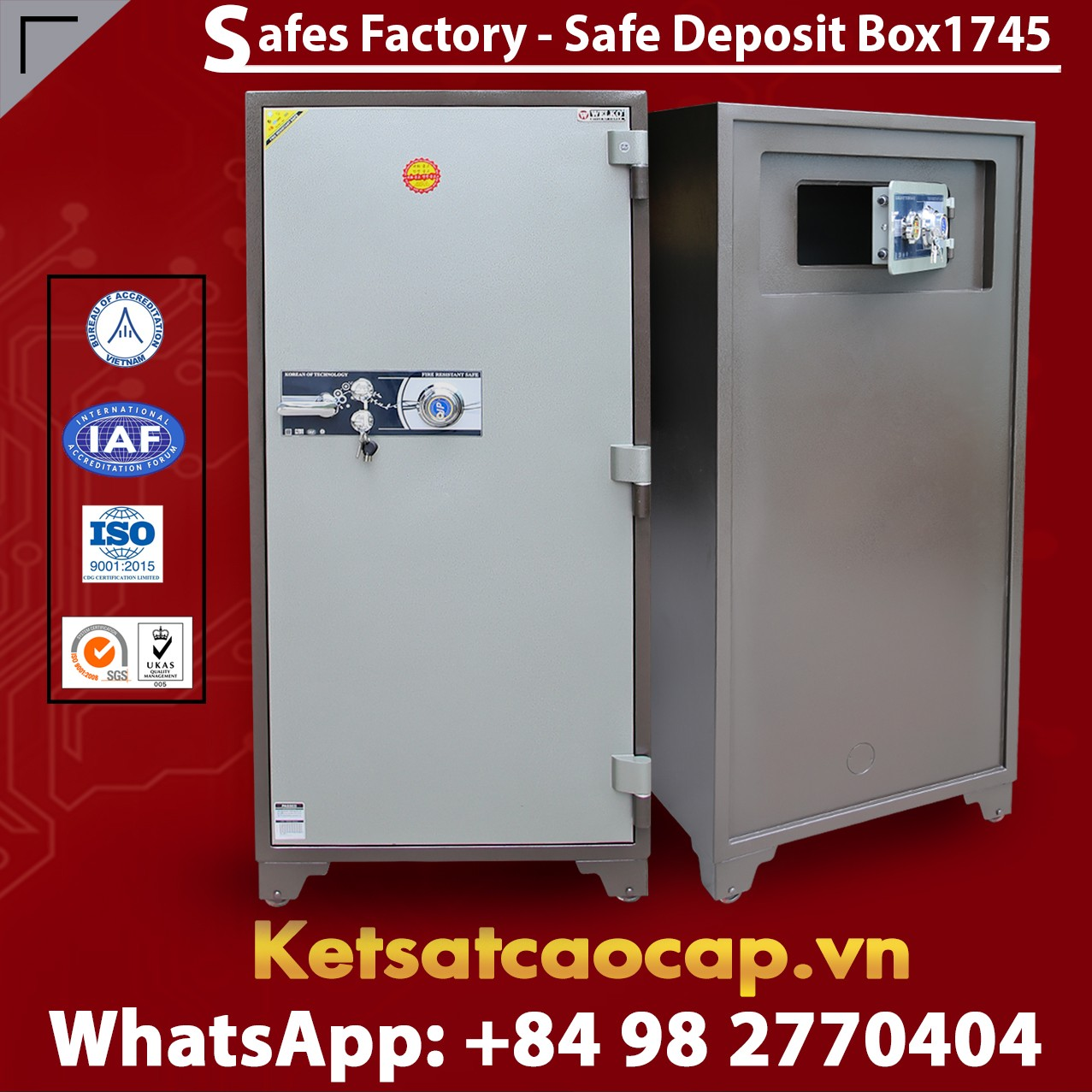 Bank Deposit Safes LX1745 Newest Design Secure For Bank