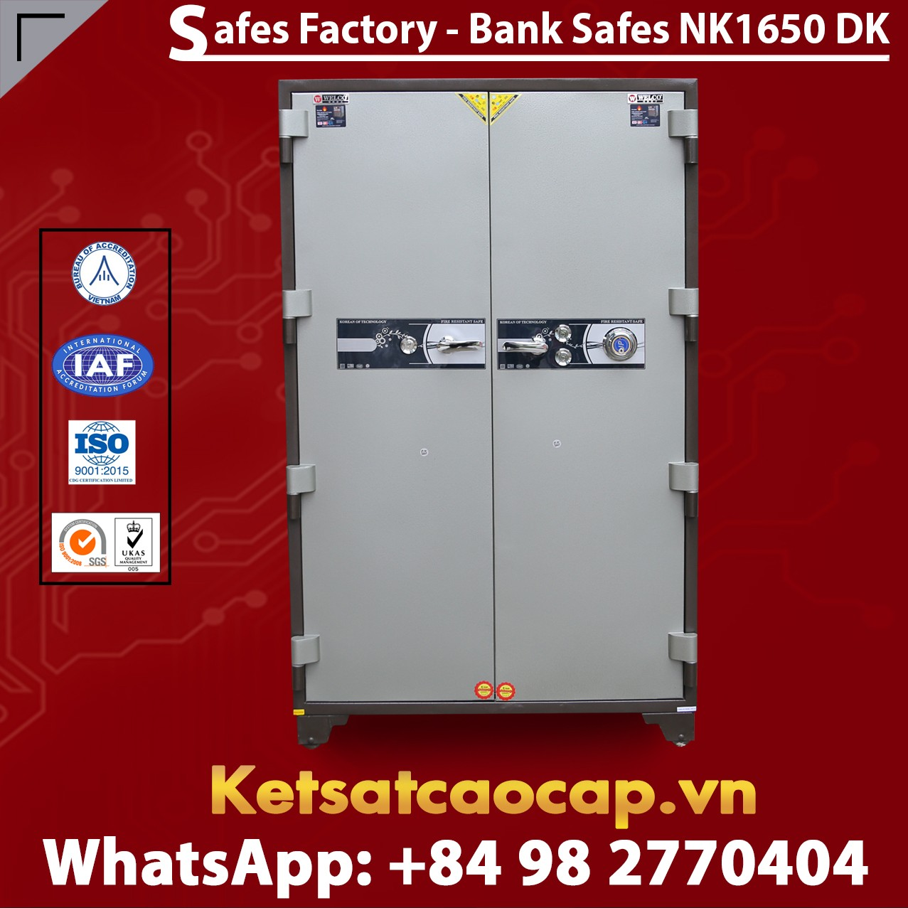 Bank Safes NK 1650 DK Two Door Fingerprint Locking Customized Models