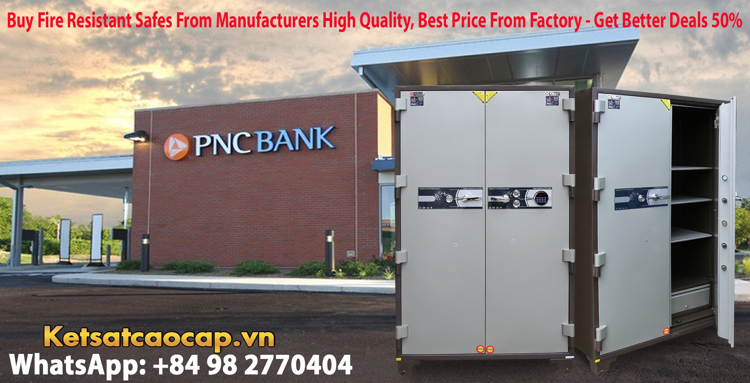 hình ảnh sản phẩm Bank Safe NK 1650 E Two Doors Best Selling Security Large Safe For Bank