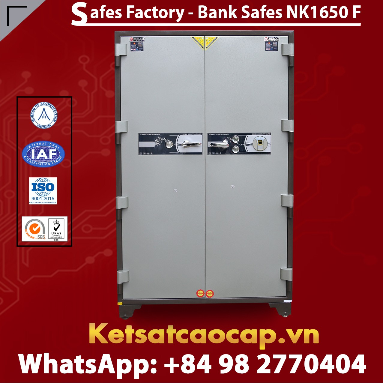 Bank Safe NK 1650 F Hot Sale Design - Modern Mechanical Locking System