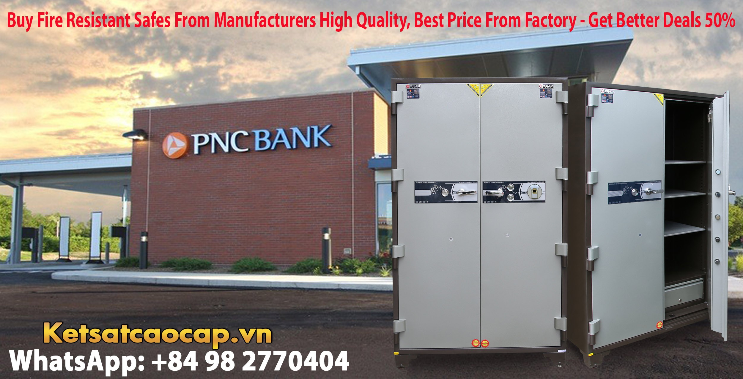hình ảnh sản phẩm Bank Safe NK 1650 F Hot Sale Design - Modern Mechanical Locking System