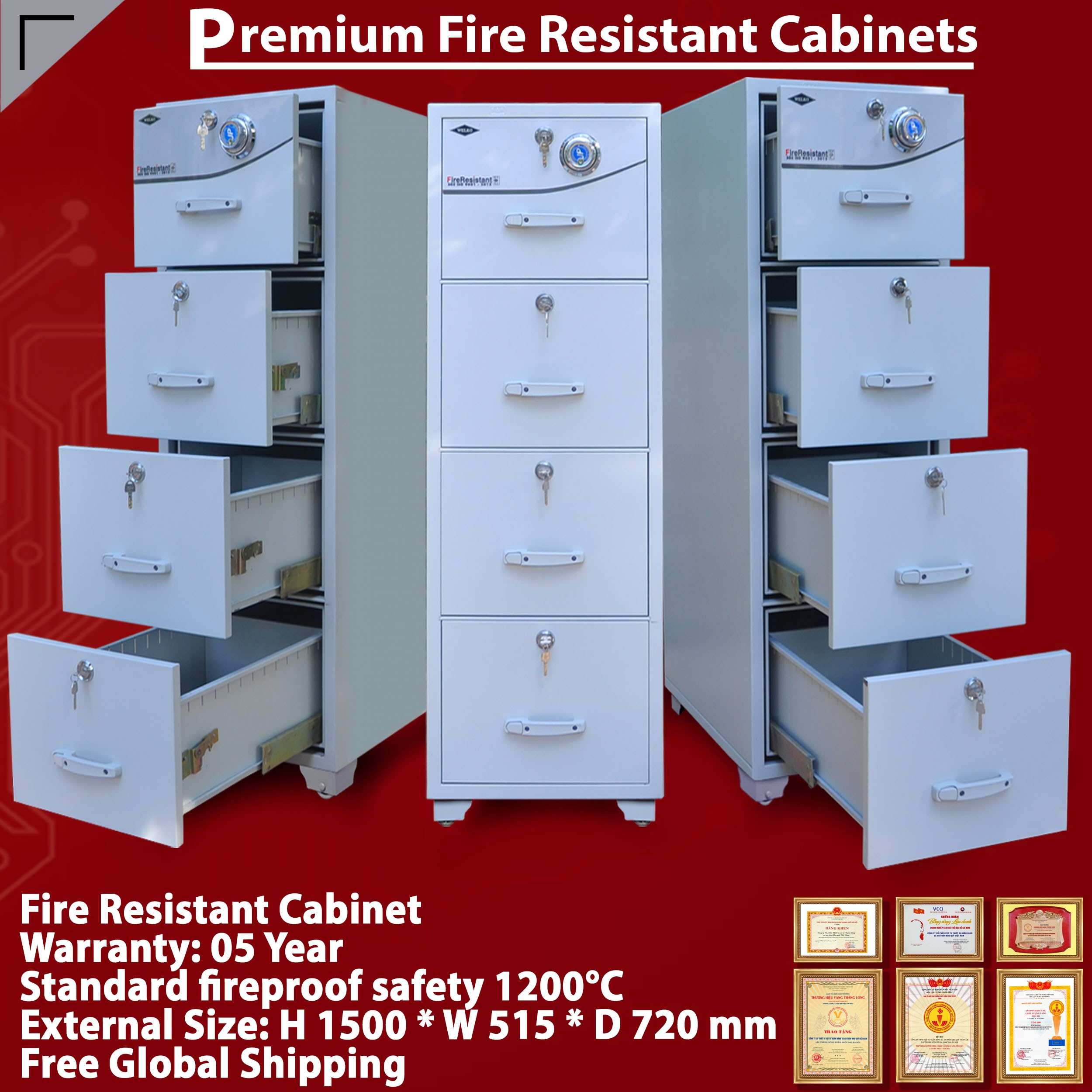 Fire Resistant Secure Storage Cabinets
