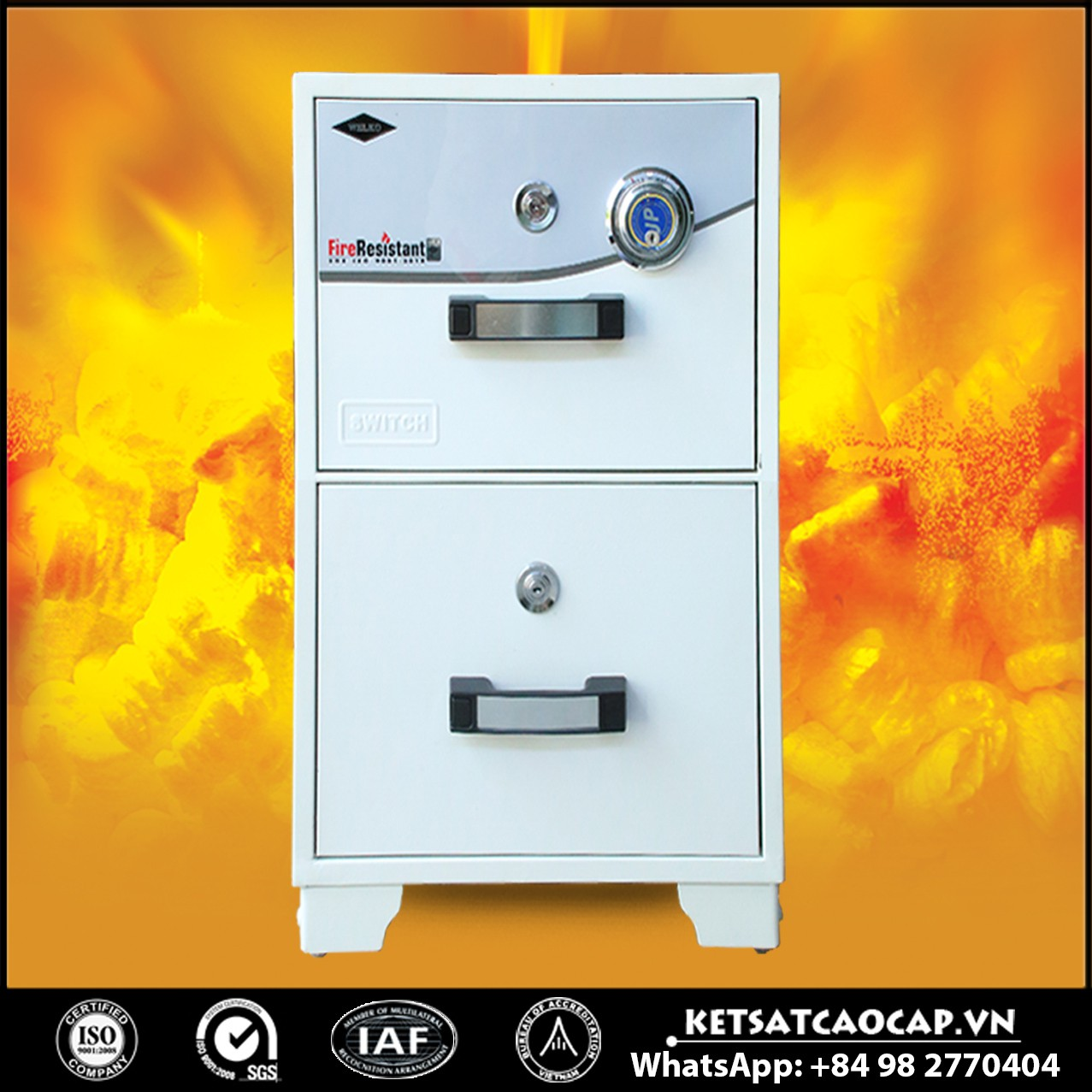 Tủ Hồ Sơ Chống Cháy WELKO S200 DK White