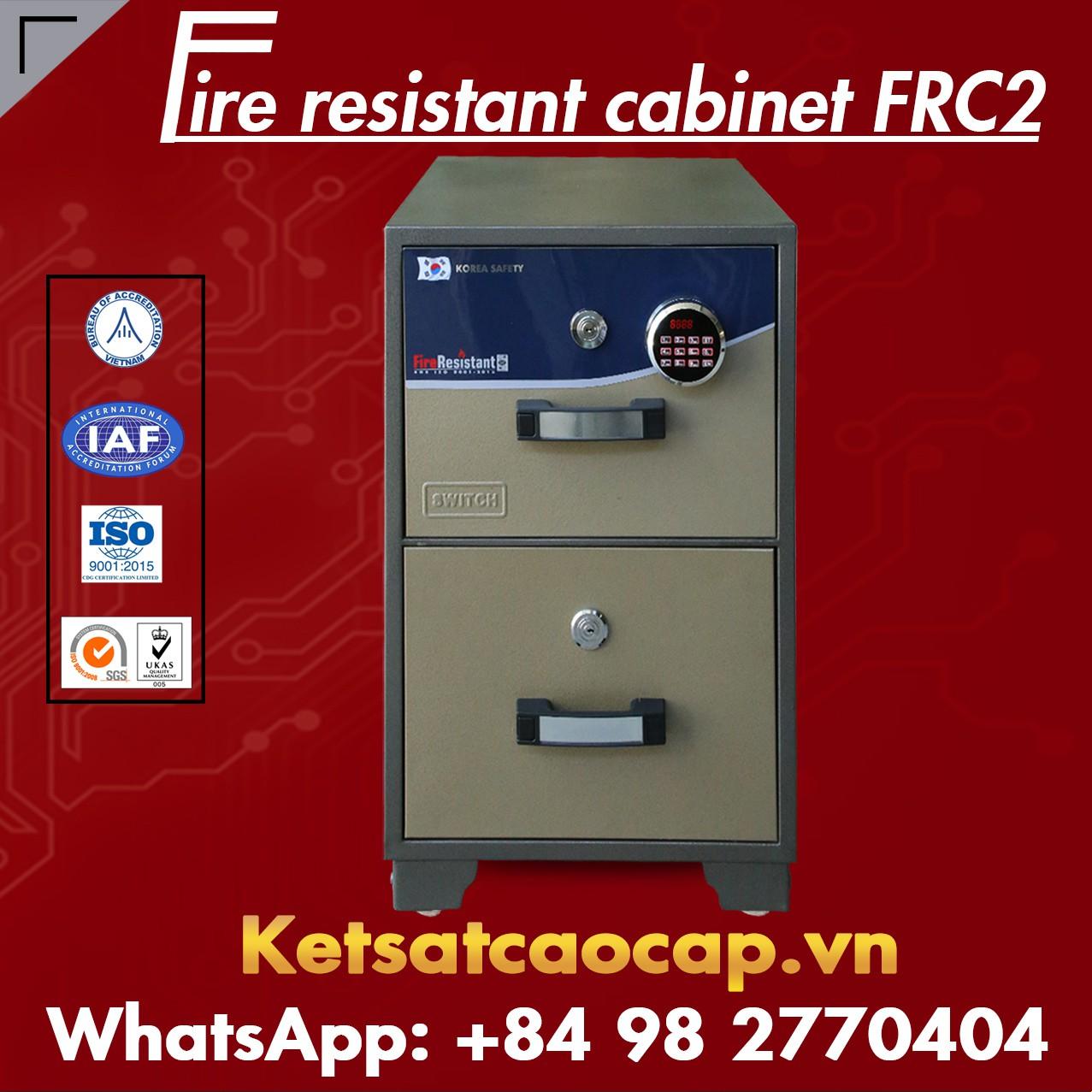 Fireproof Filing Cabinet WELKO FRC2 LED Brown 111