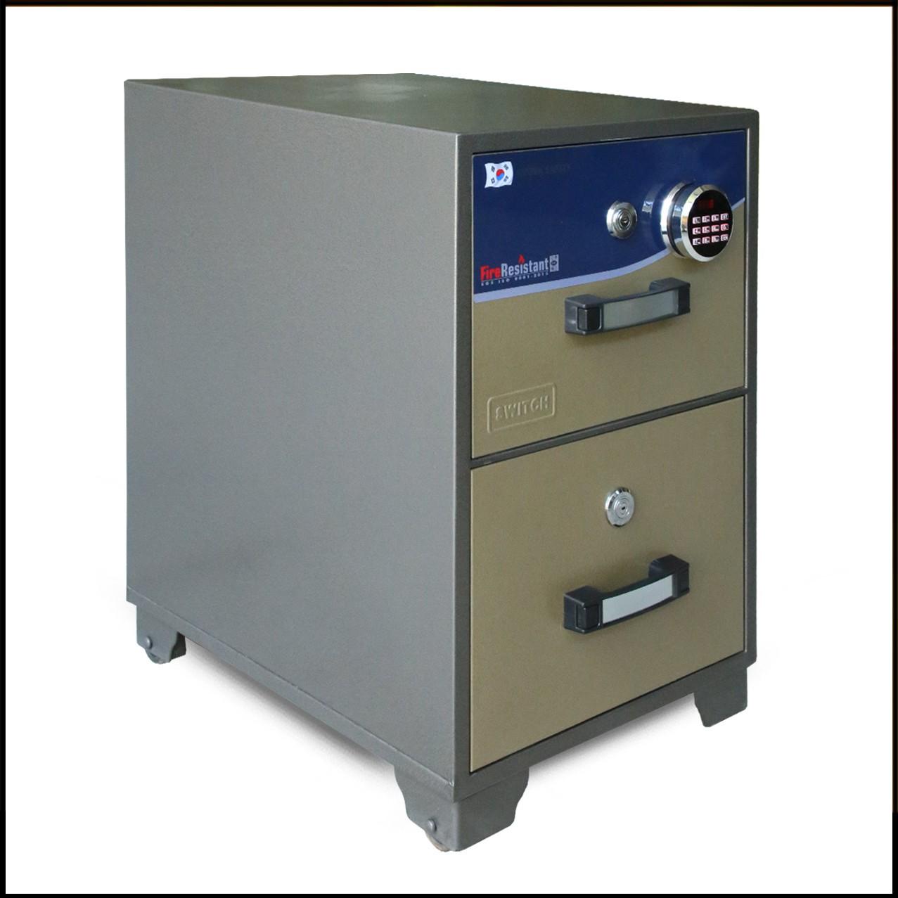 Steel Double-Sliding Door Filing Cabinet