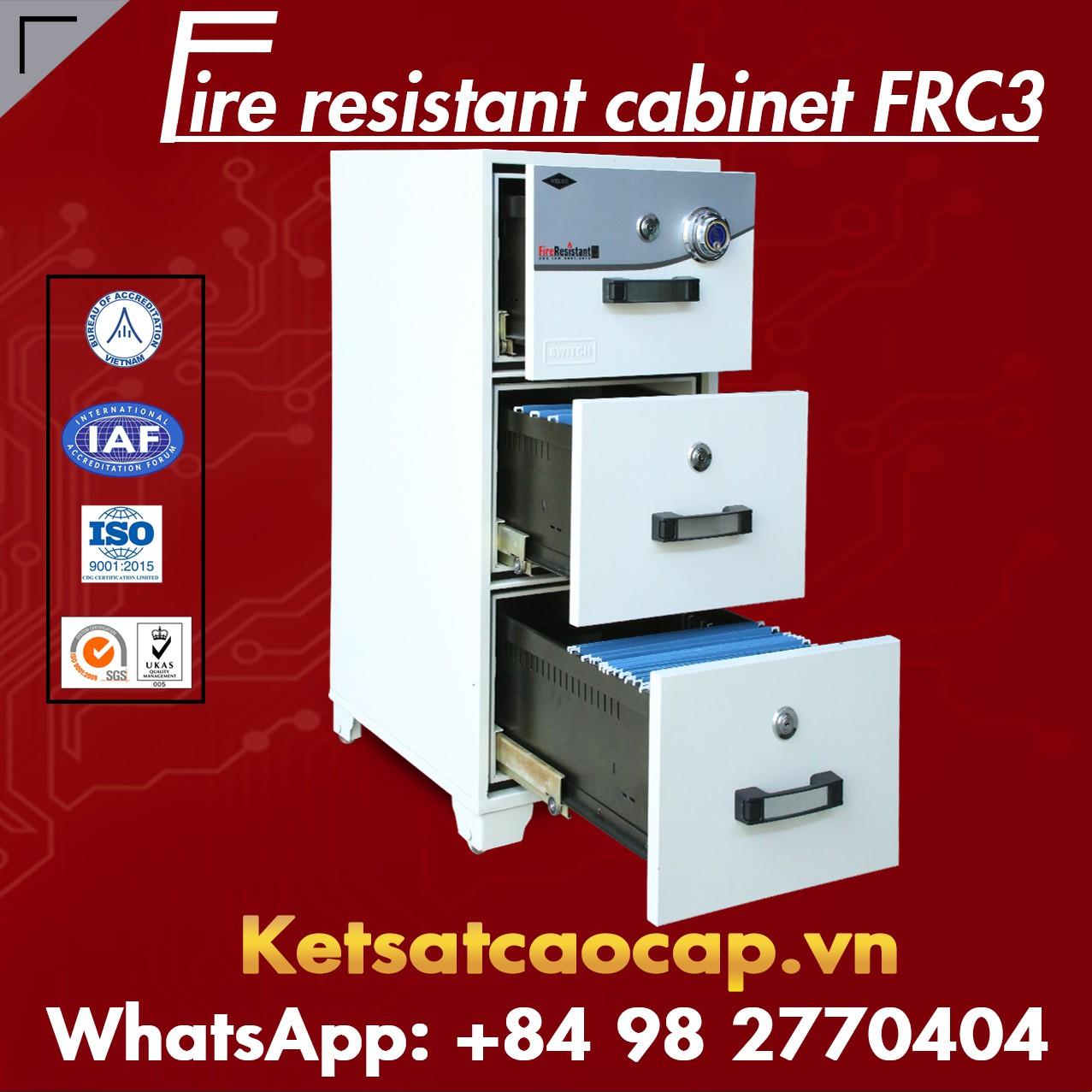 Tủ Hồ Sơ Chống Cháy 3 Ngăn WELKO FRC3 DK White