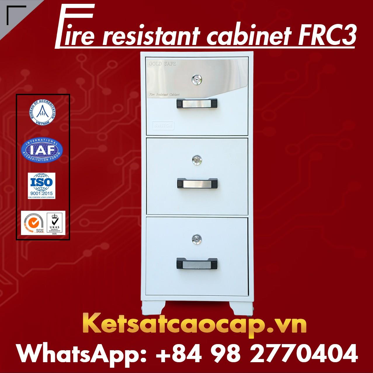 Tủ Hồ Sơ Chống Cháy WELKO FRC3 KEY White