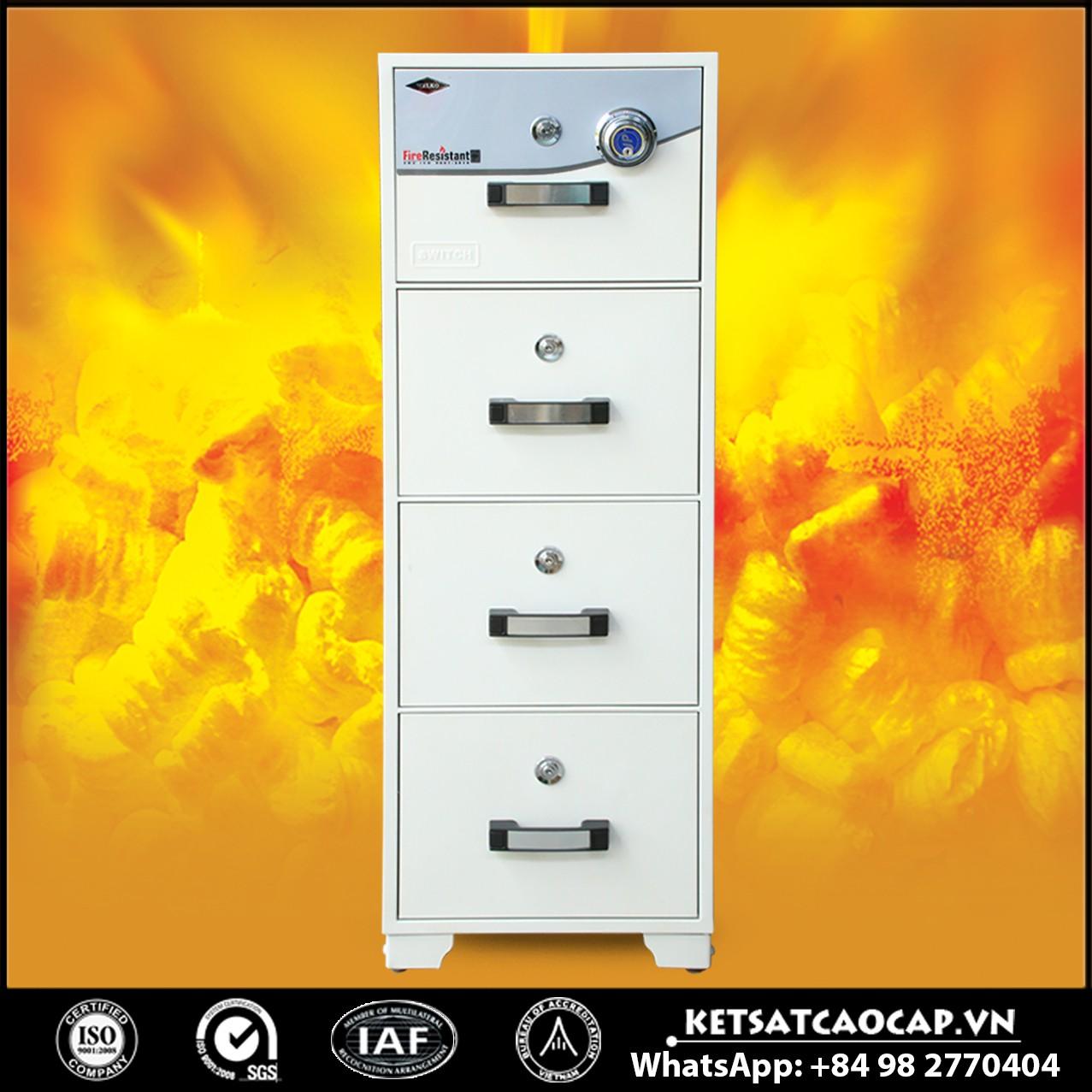 Tủ Hồ Sơ Chống Cháy WELKO S400 DK White