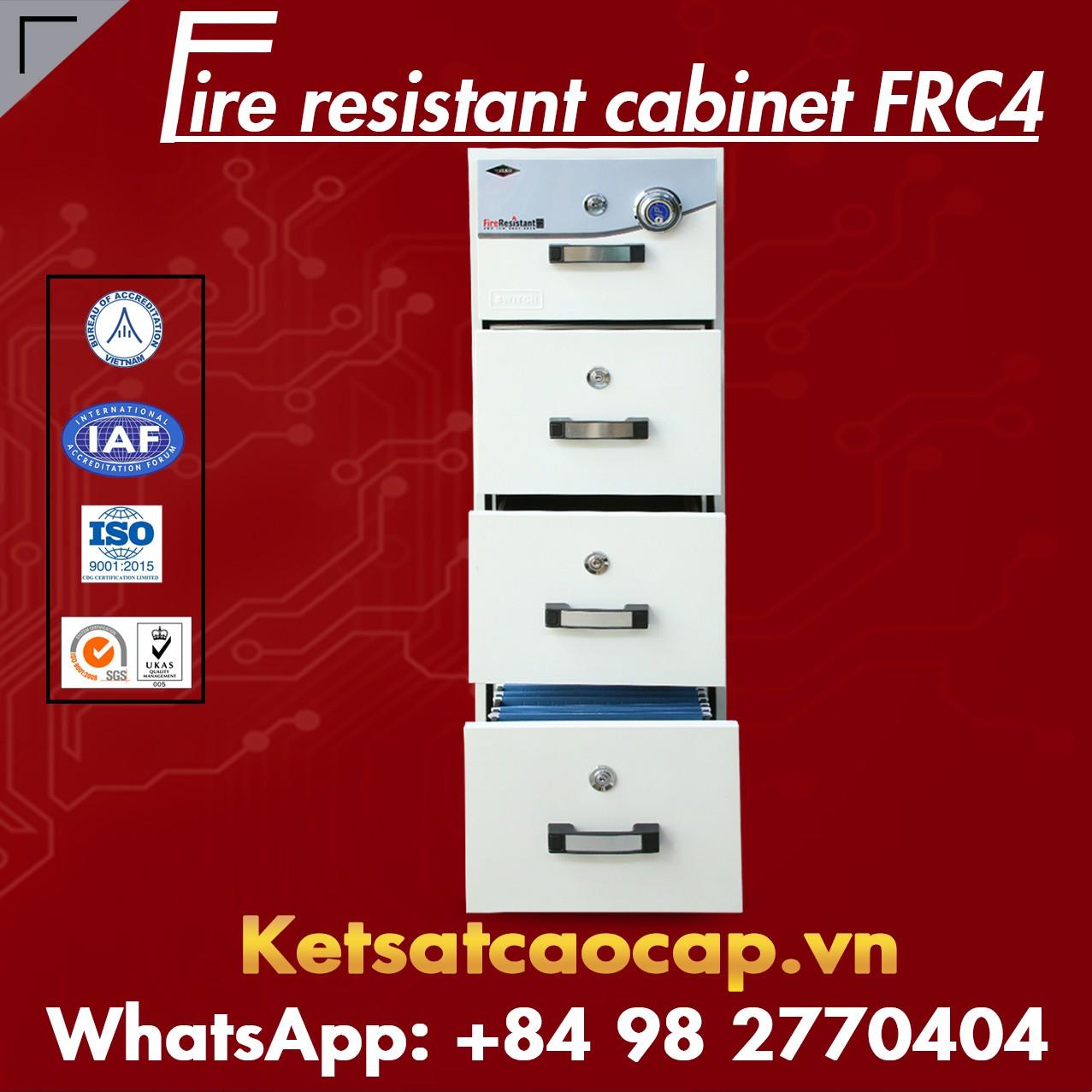 Tủ Hồ Sơ Chống Cháy 4 Ngăn WELKO FRC4 DK White