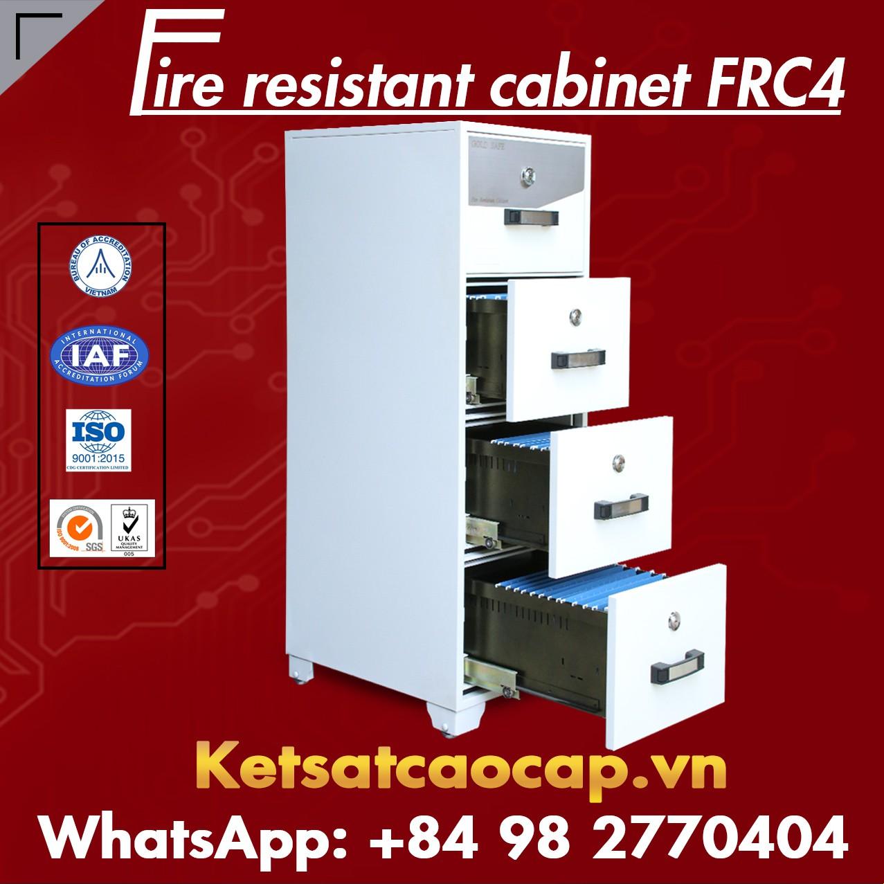 Tủ Hồ Sơ Chống Cháy 4 Ngăn WELKO FRC4 White