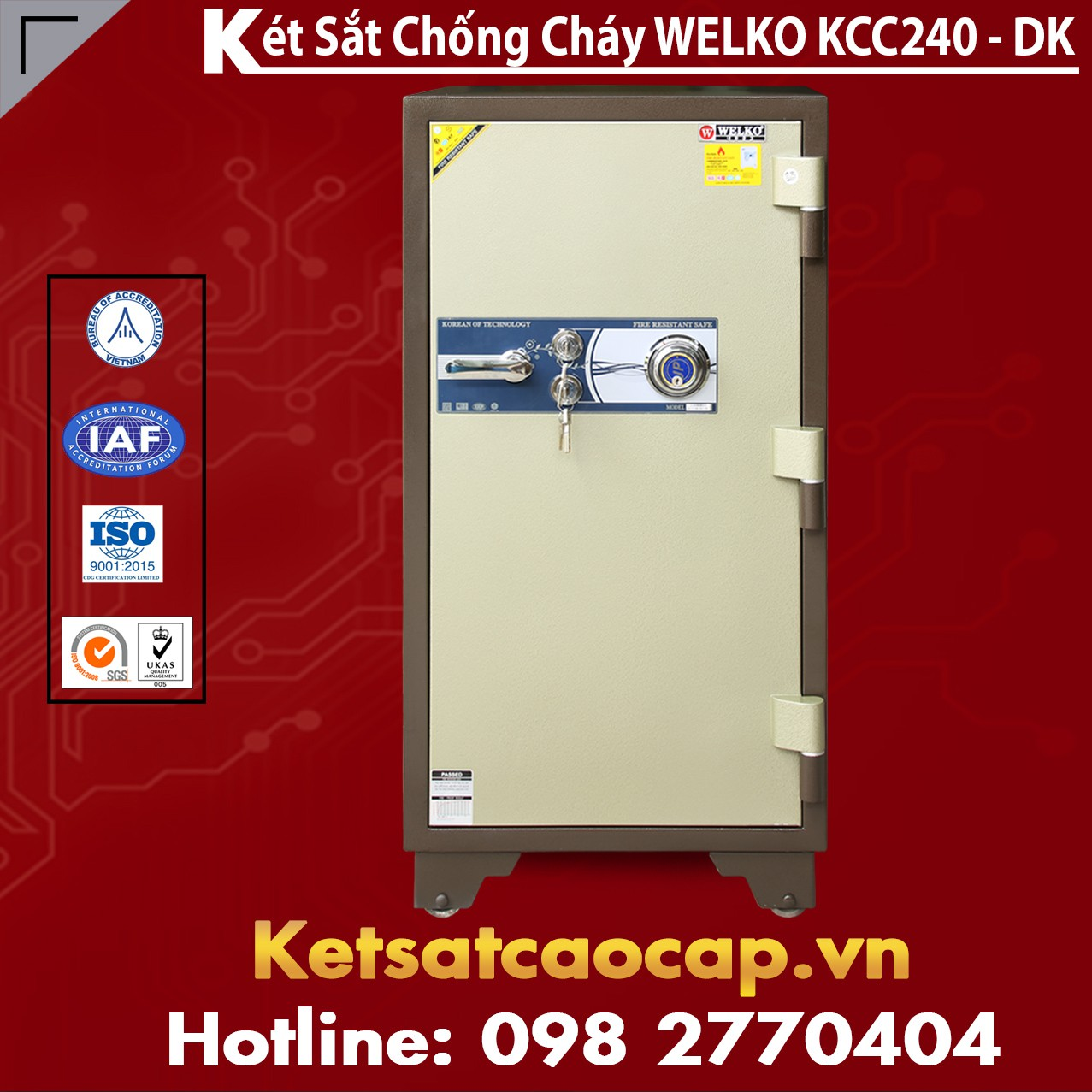 Két Sắt Nhập Khẩu KCC240 DK - Brown