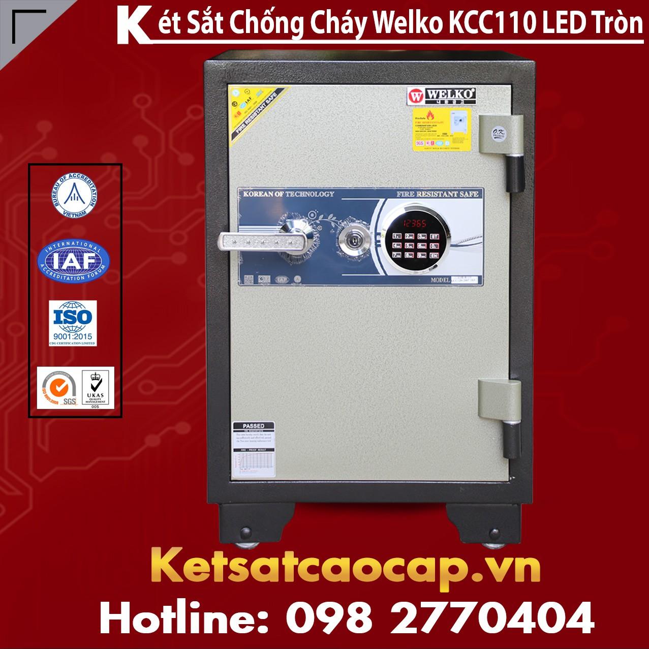 Két Sắt Chống Trộm KCC110 - Led Tròn