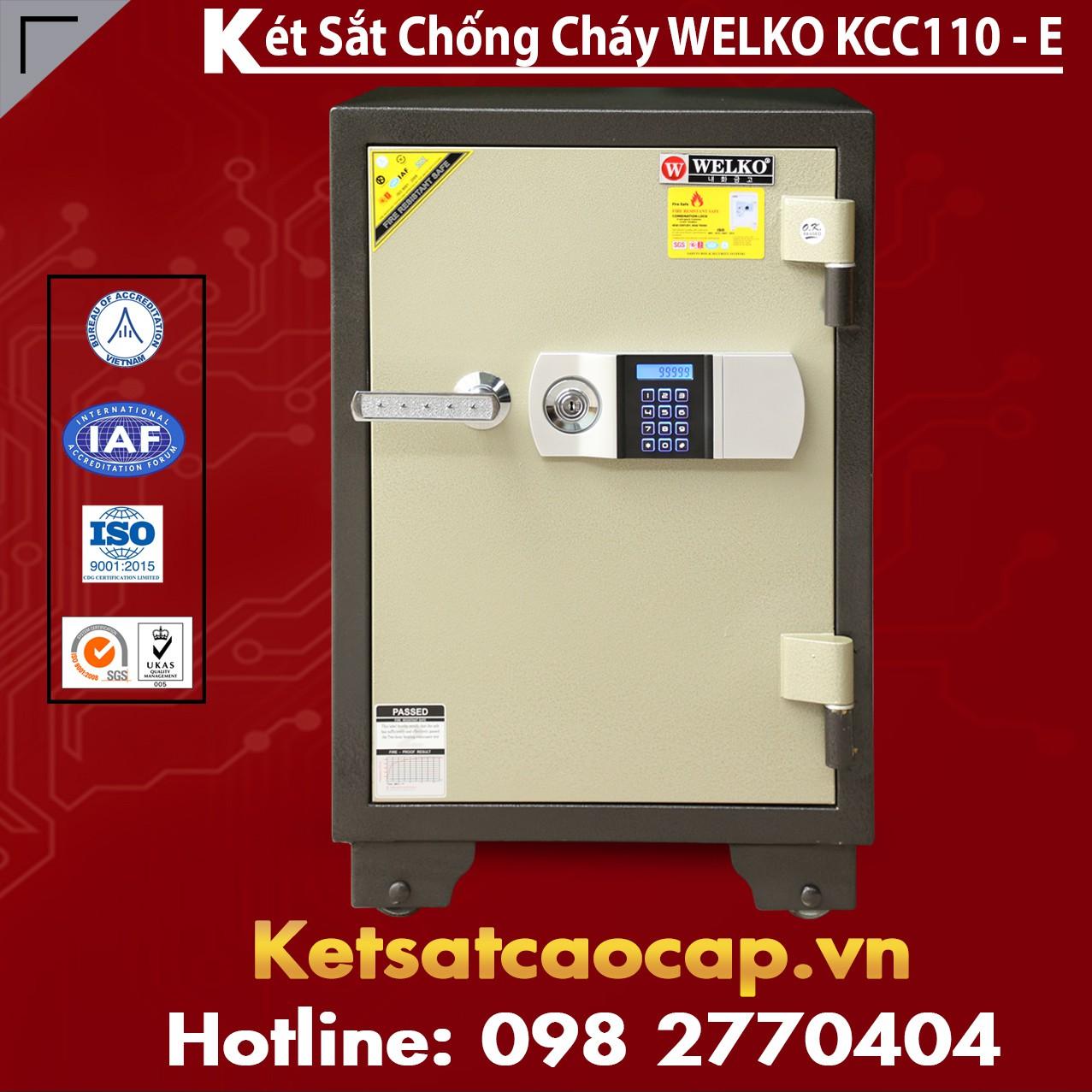 Két Sắt Điện Tử KCC110 E - Silver