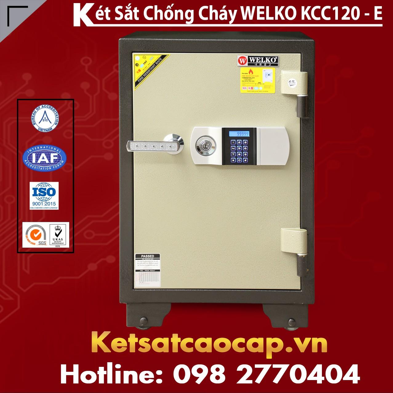 Két Sắt Điện Tử KCC120 E - Silver