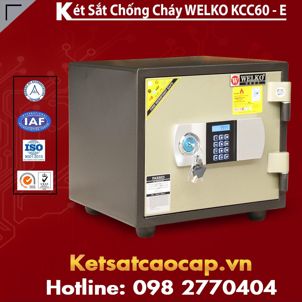 Két Sắt Điện Tử KCC60 E - Silver